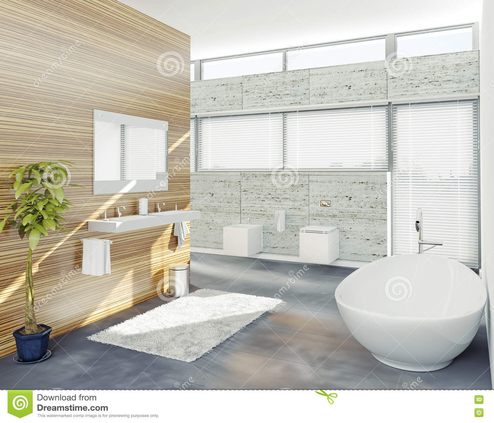 Modern Bathroom Stock Illustration Image 39650754