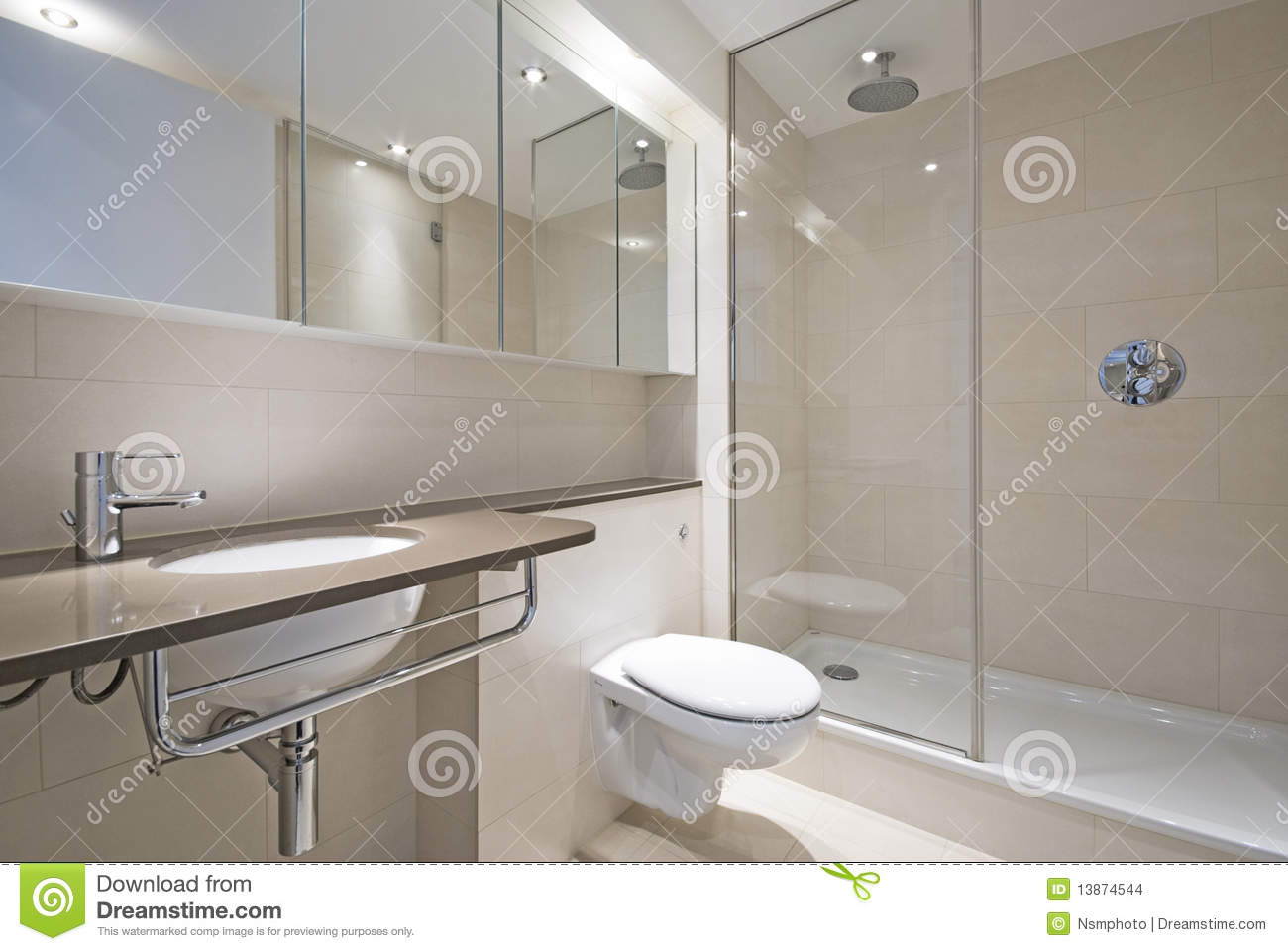 Modern Bathroom With Designer Wash Basin