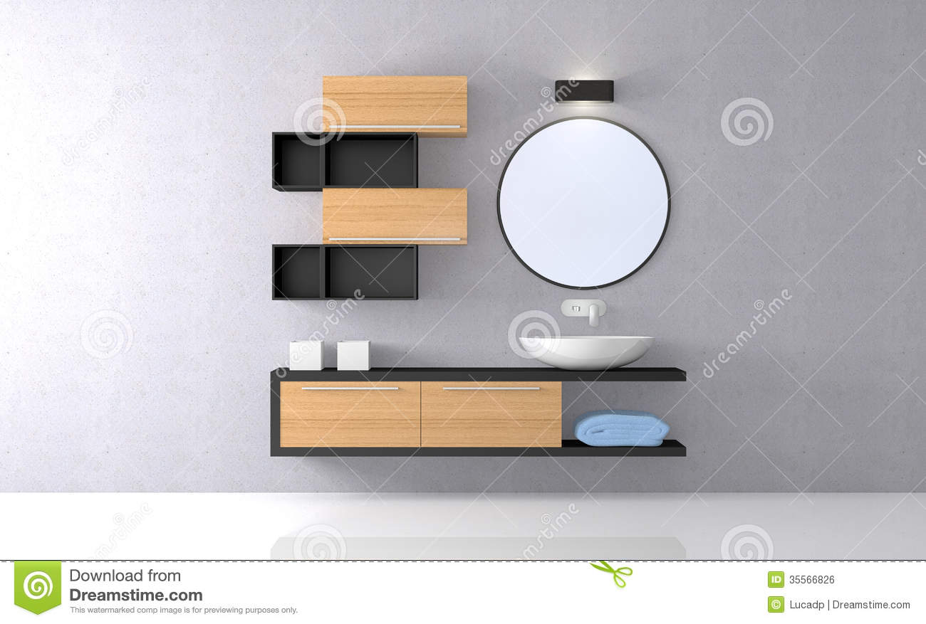 Modern Bathroom Royalty Free Stock Image Image 35566826