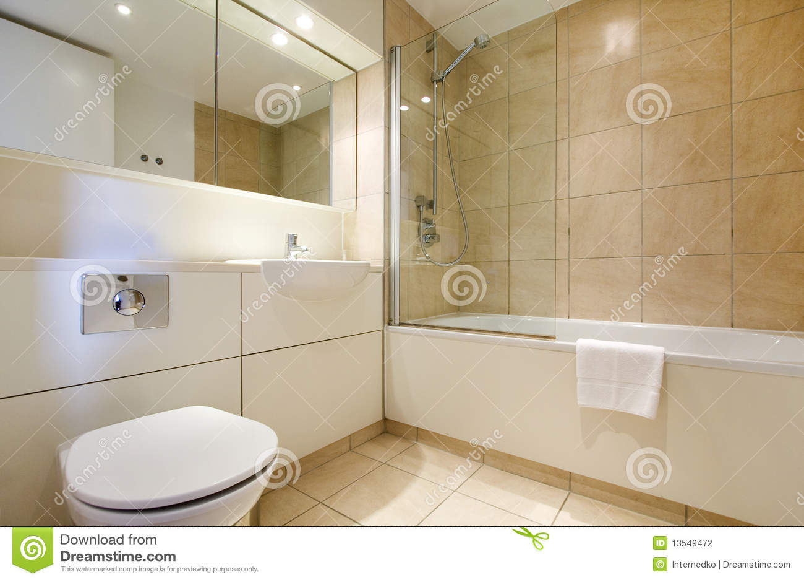 Simple Bathroom Interior London Stock Photo Image Of Towel White 13549472