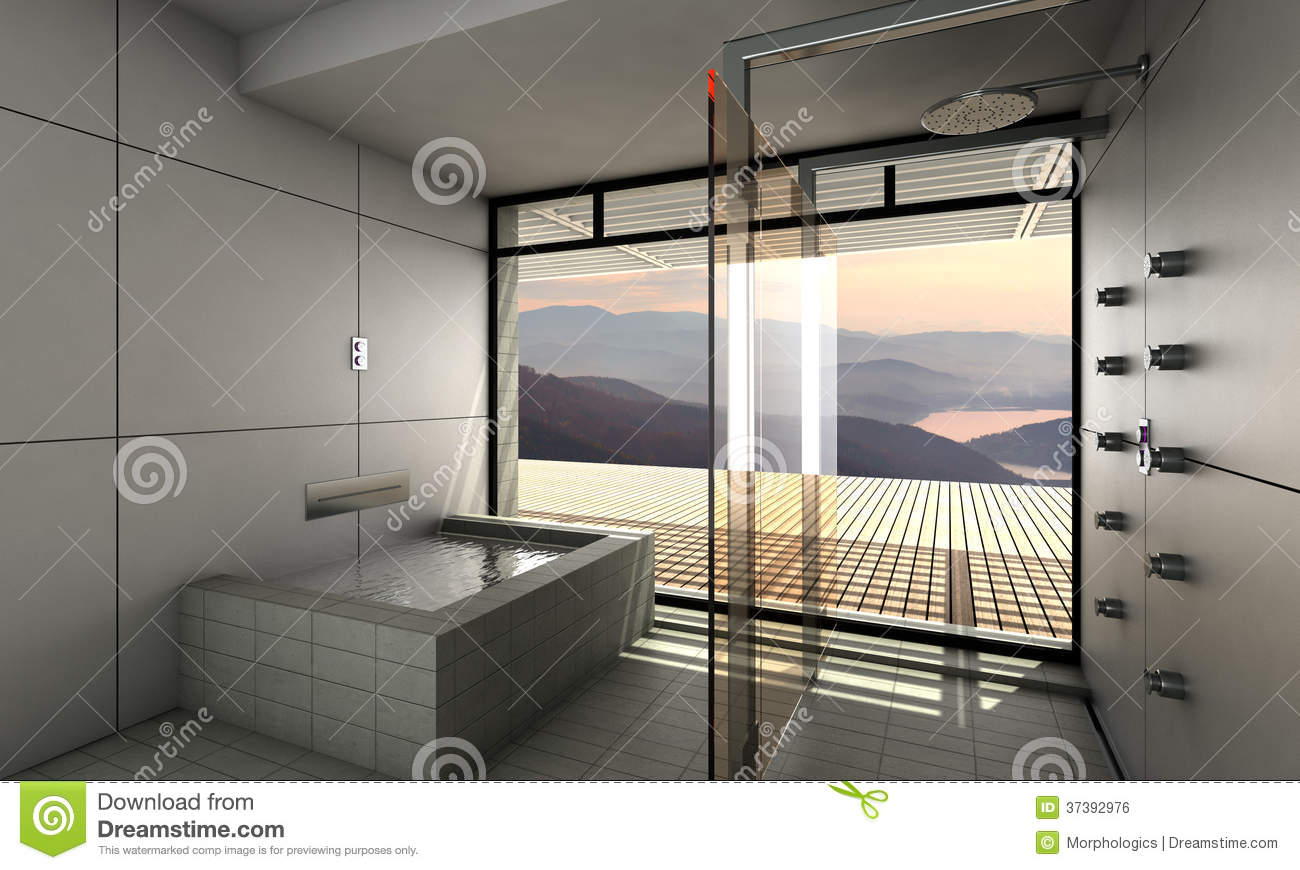 Modern Bathroom Royalty Free Stock Image Image 37392976