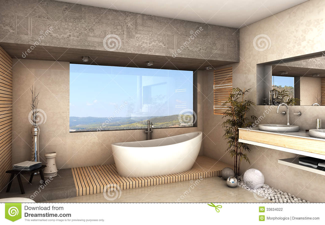 Luxury Bathroom Stock Illustration Image Of Health