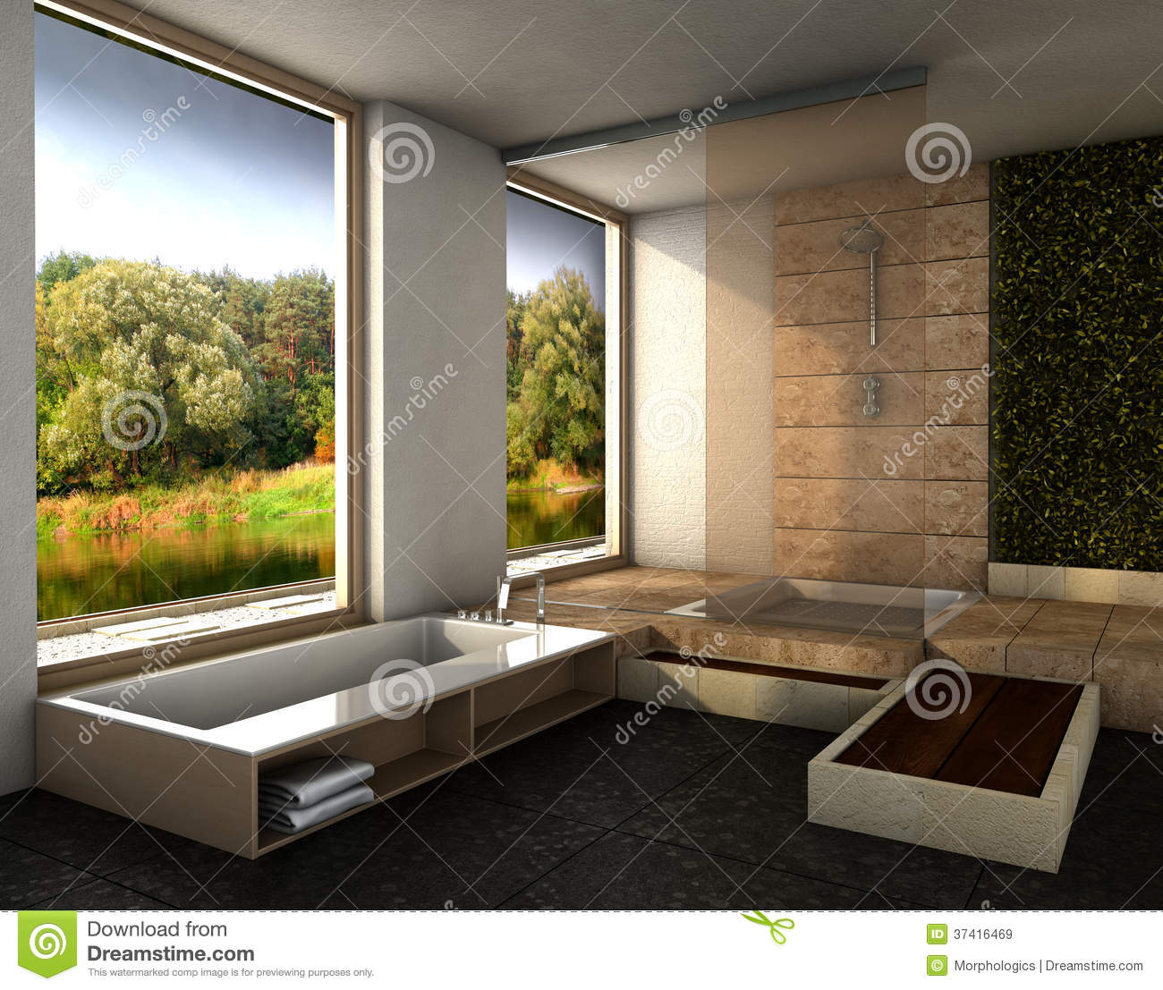 Modern bathroom royalty free stock images image 37416469 - Interior design bathroom colors ...