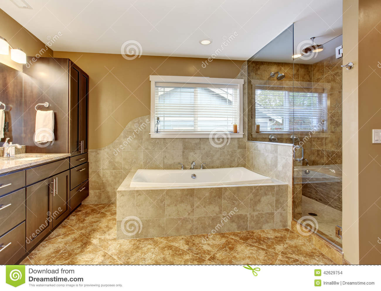 Modern bathroom interior with glass door shower stock photo image 42629754 Glass bathroom doors interior
