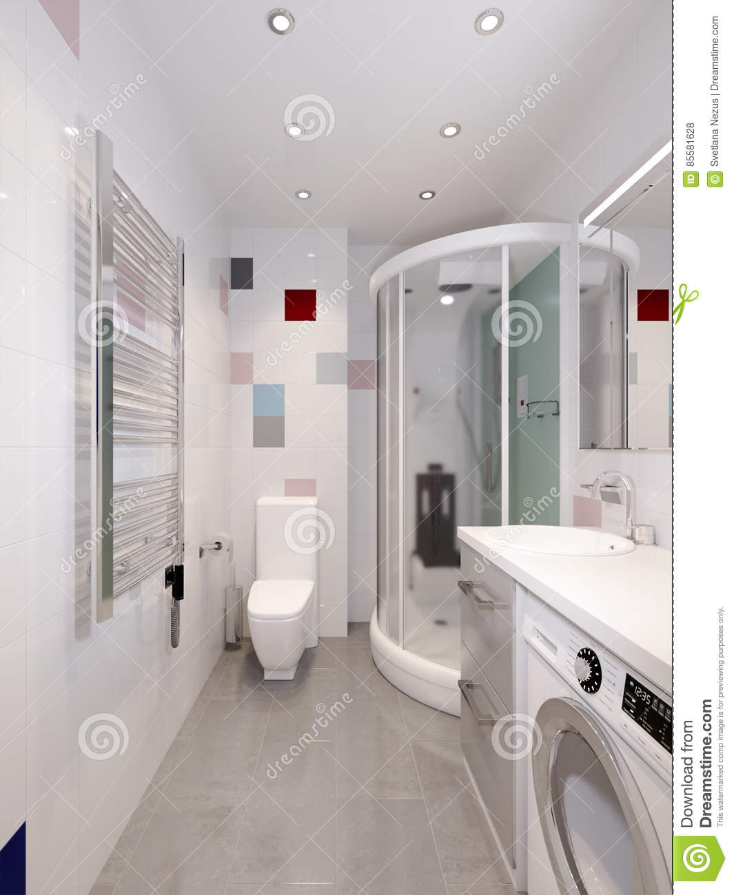 colors for the bathroom modern bathroom interior stock illustration image of 17815
