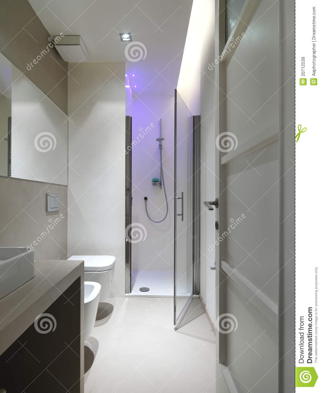 Free Bathroom Floor Plans Modern Bathroom With Shower Cubicle Stock Image Image