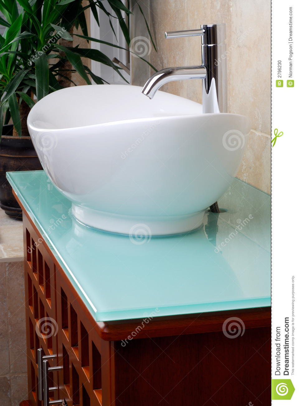 Modern Bathroom Vanity Sink Stock Photo Image 2796230