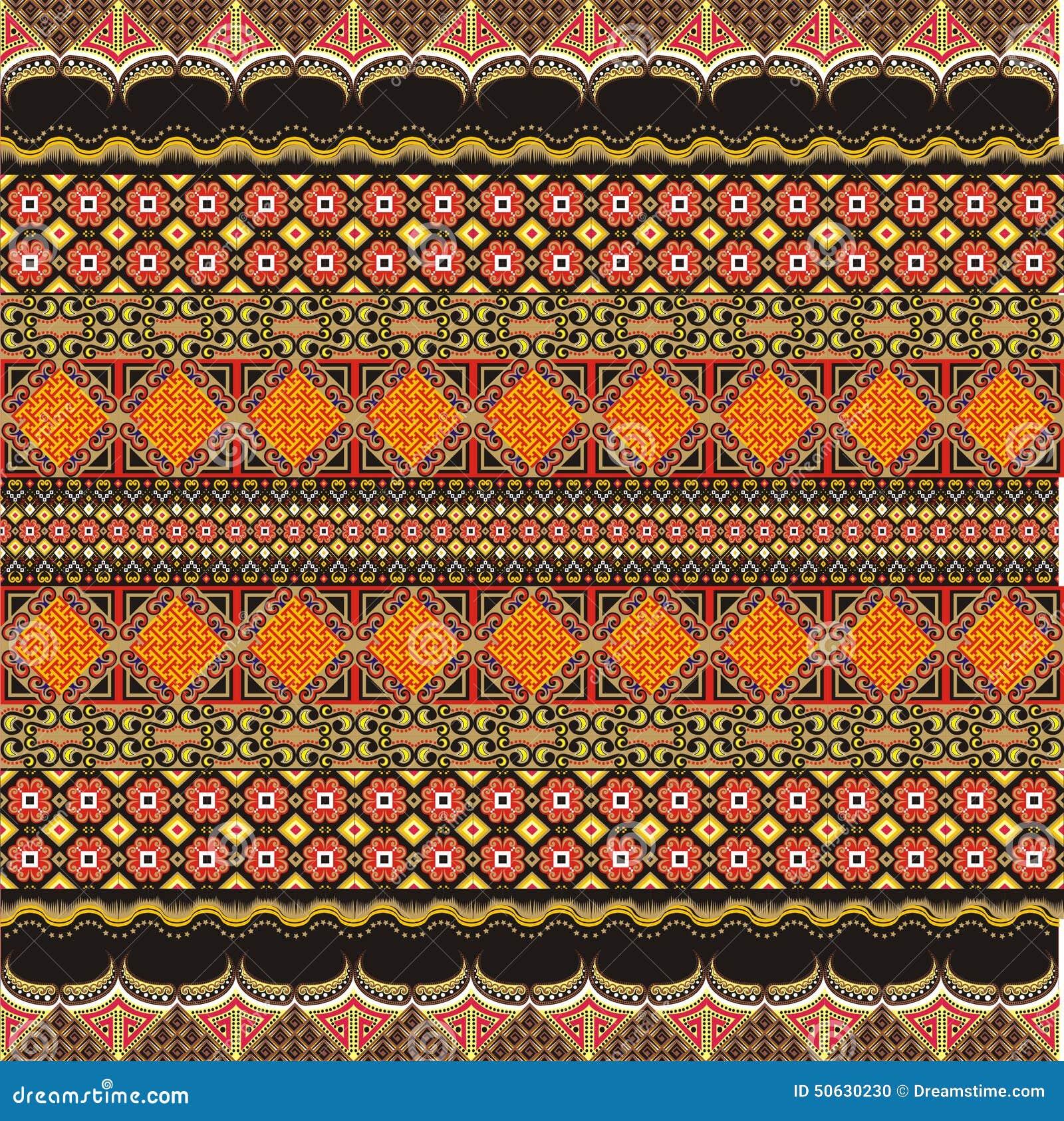 Modern Batik Motif Decoration Stock Illustration - Image: 50630230