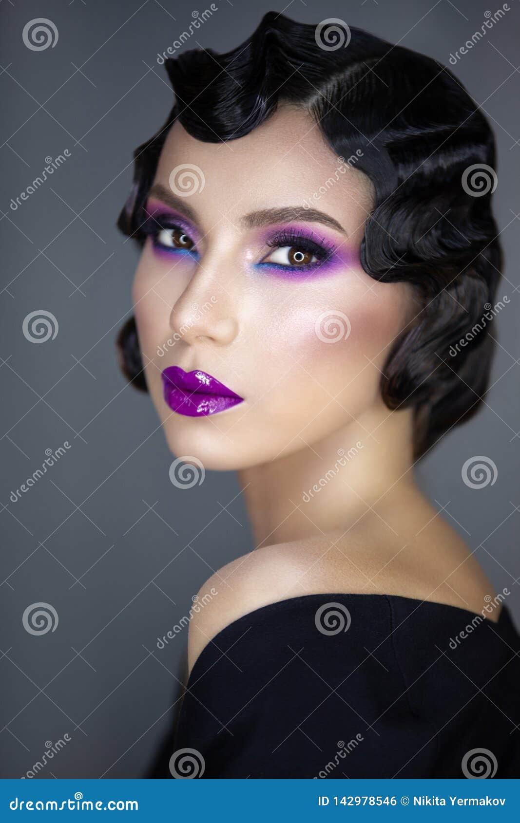 Modern beauty portrait of a girl 30-x