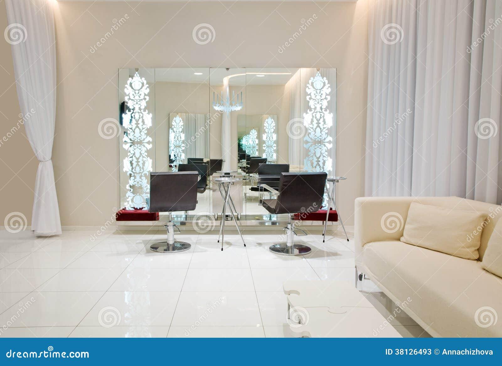 Modern beauty salon stock image image of apartment for Salon de the nice
