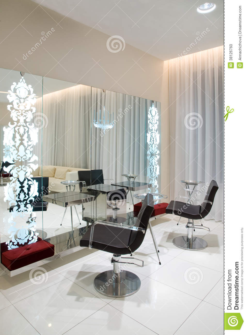 Modern beauty salon stock photo image 38126760 for Photo salon moderne