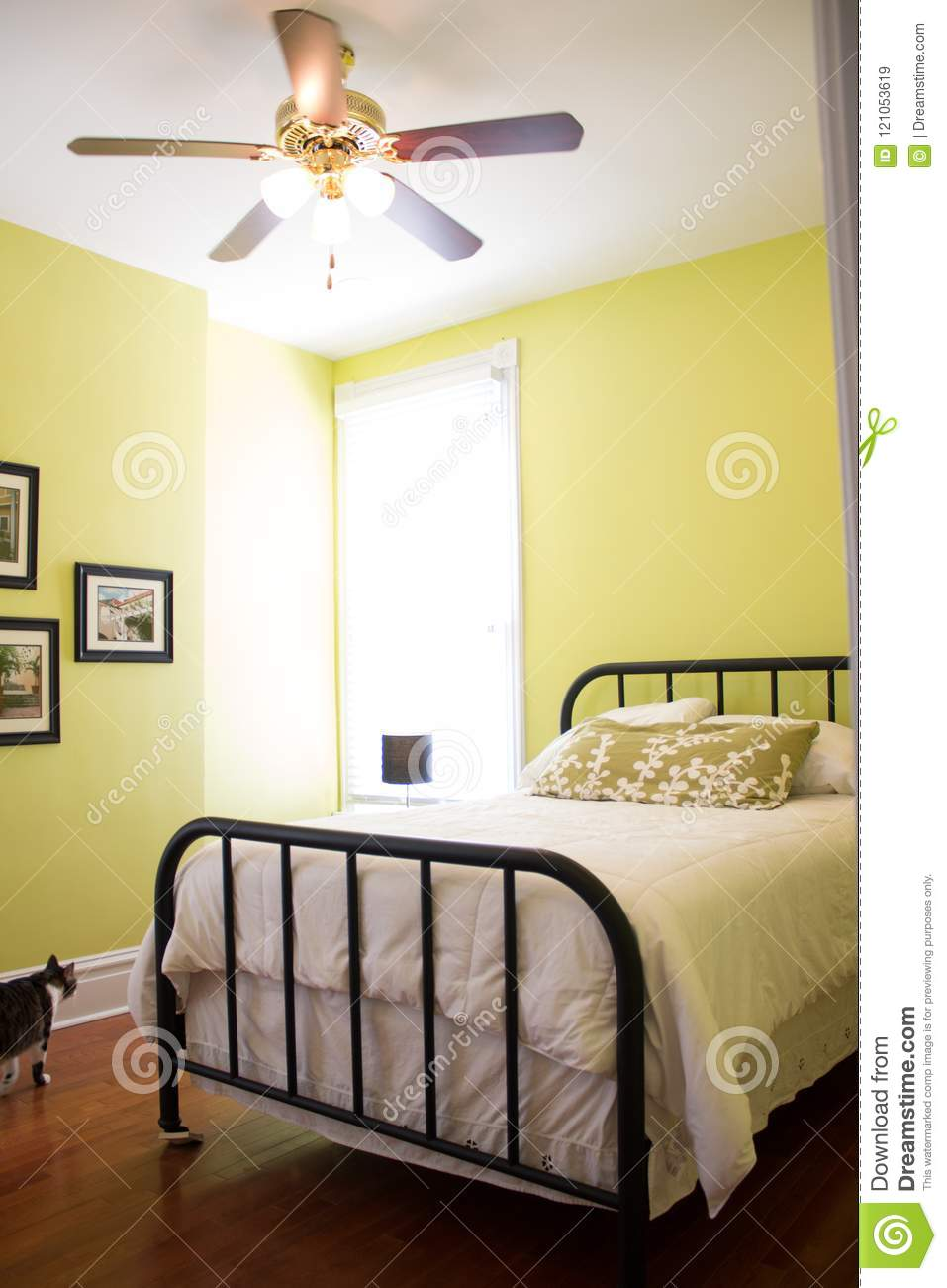 Modern Bed In Modern Home House Room Editorial Stock Image - Image ...