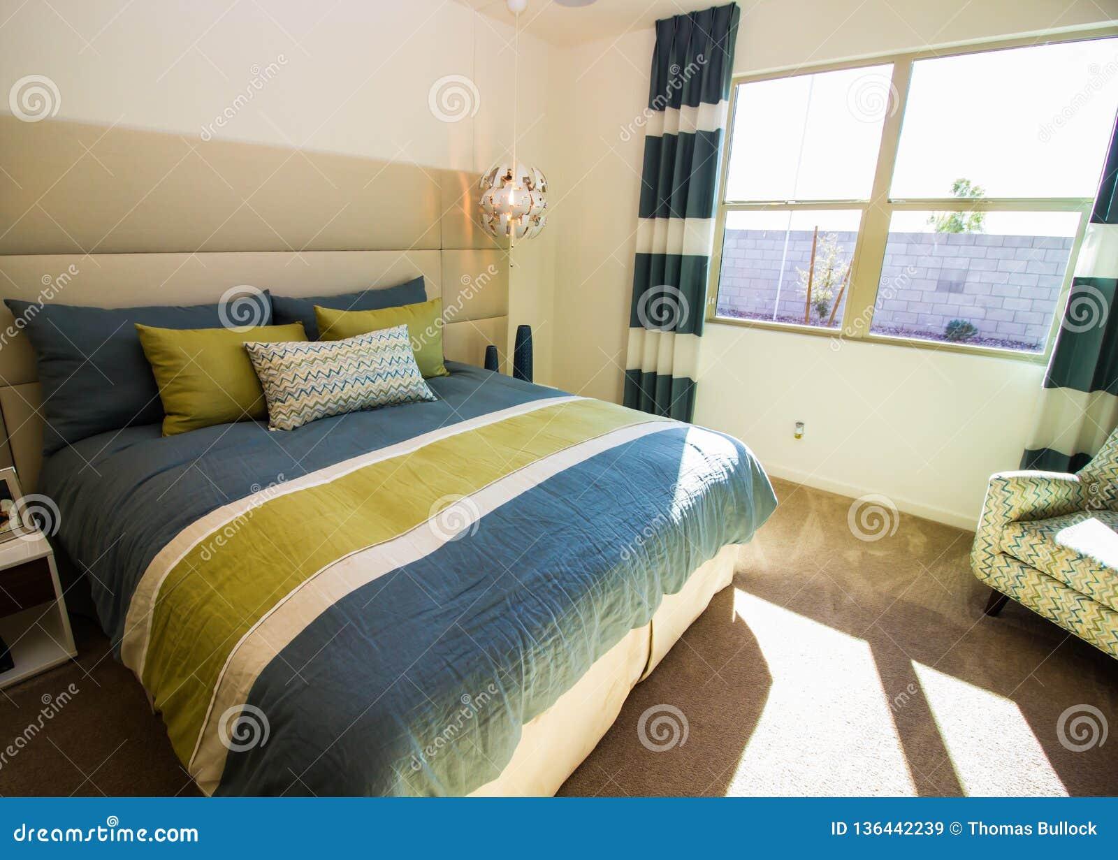 Sensational Modern Bedroom With Chair And Sunshine Stock Image Image Spiritservingveterans Wood Chair Design Ideas Spiritservingveteransorg