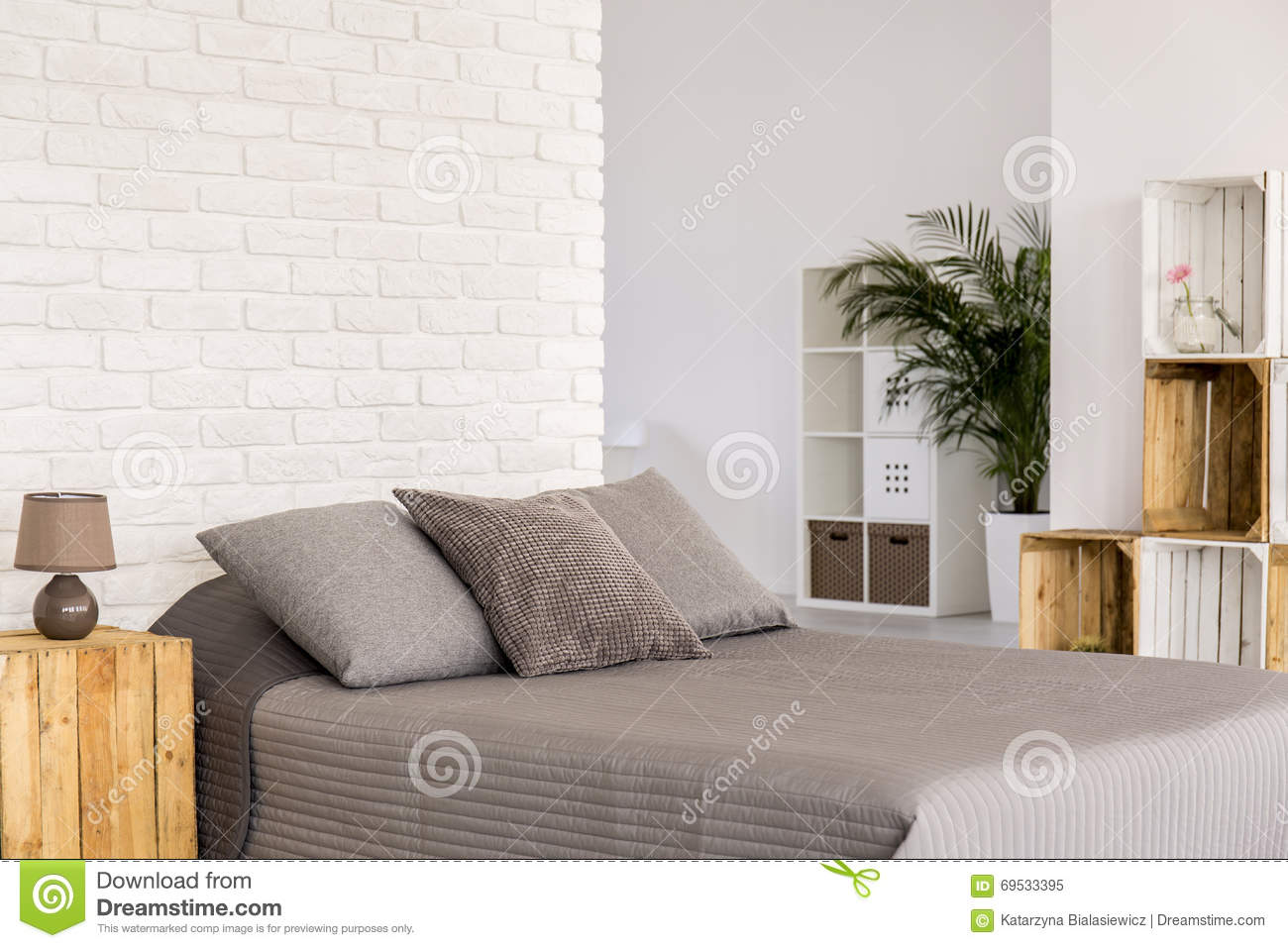 brick bedroom furniture. Modern Bedroom In Eco Style Stock Image - Of Interior, Modern: 69533395 Brick Furniture E