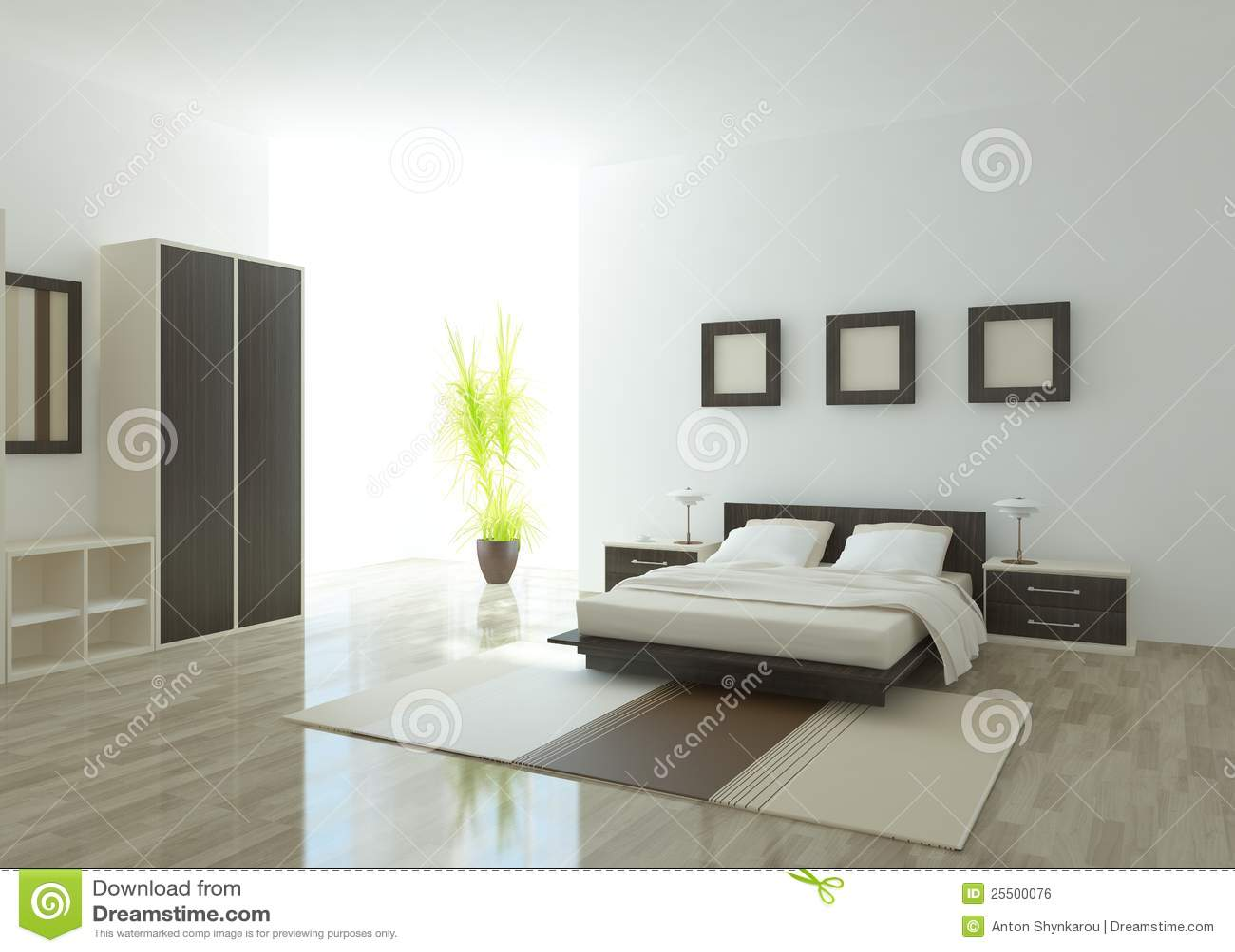 Modern Bedroom Interior Modern Bedroom Interior Royalty Free Stock Image Image 25500076