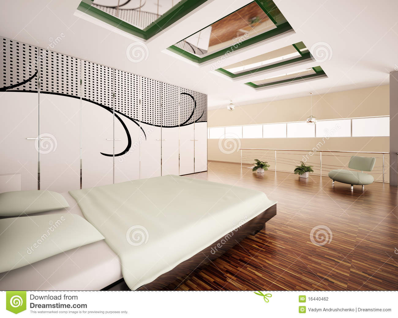 Modern Bedroom Interior Modern Bedroom Interior 3d Render Stock Photography Image 16440462