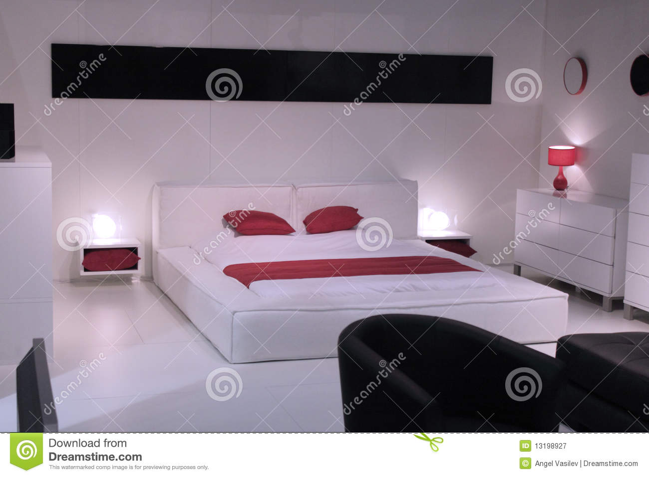 Royalty Free Stock Photo Beautiful Bedroom Design Elegant Furniture Interior