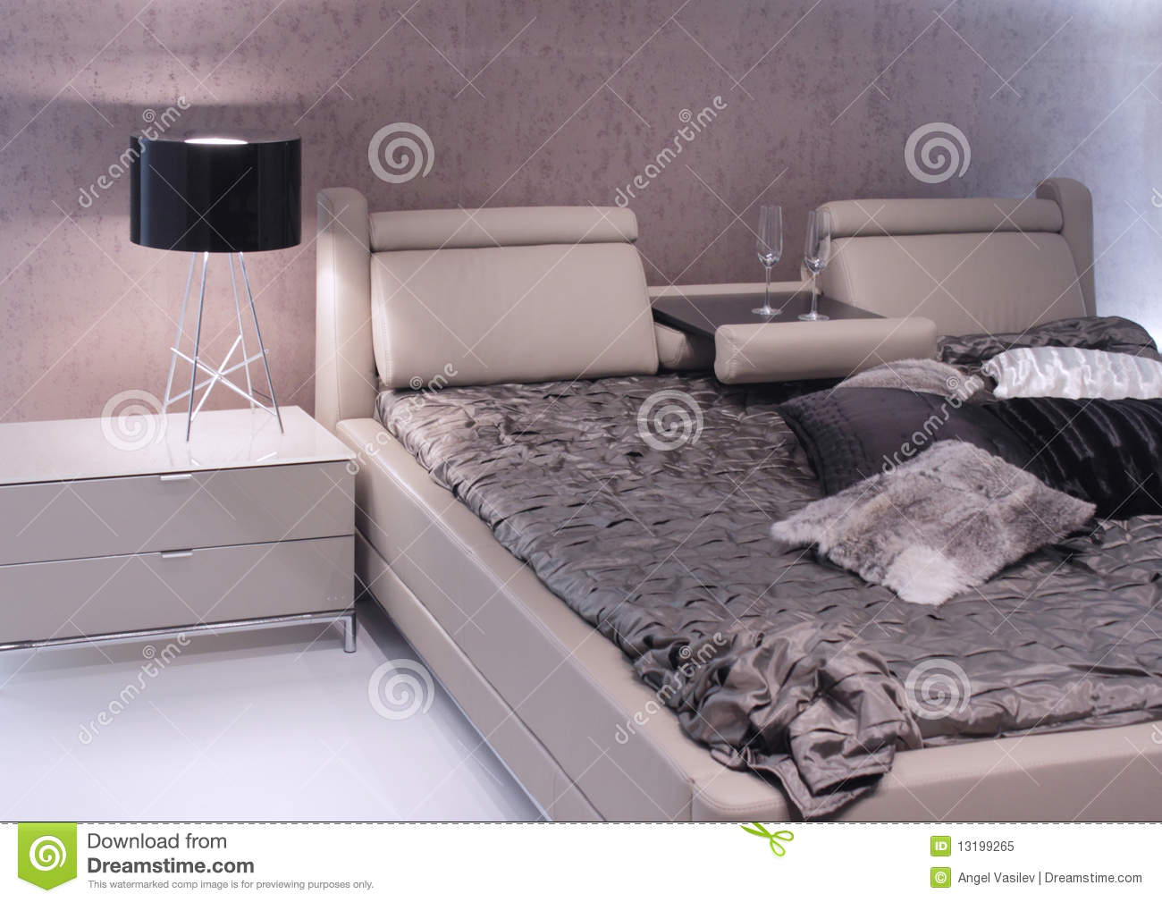 Modern bedroom interior design.