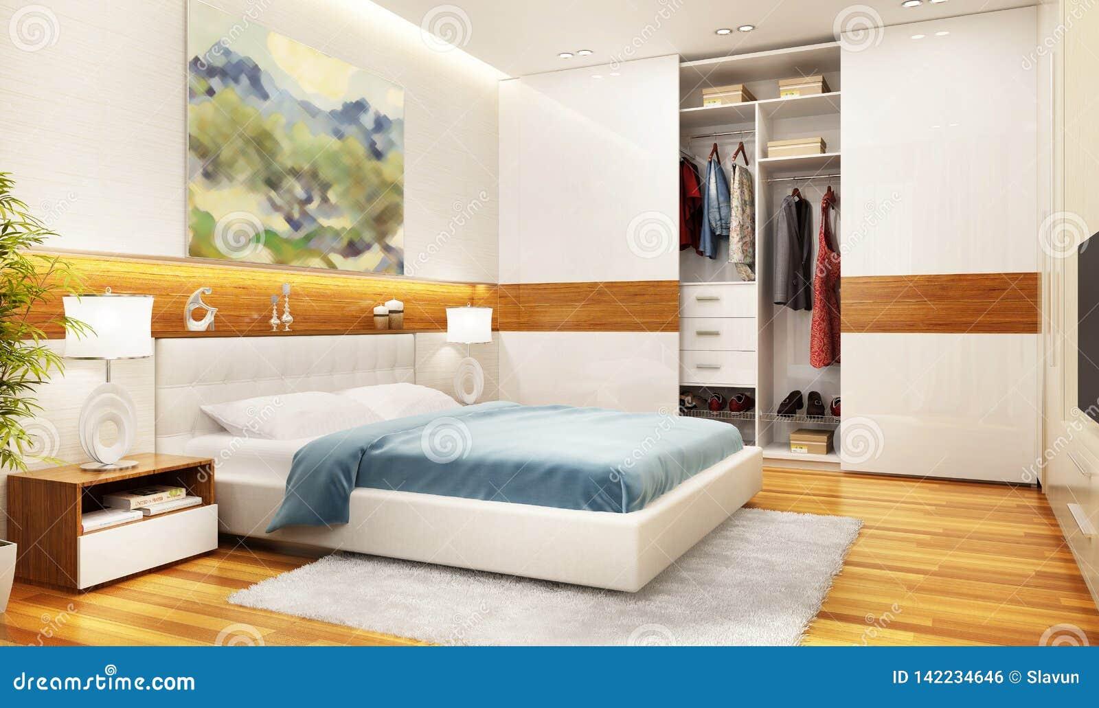 Awesome Modern Bedroom Interior Design With Large Sliding Wardrobe Home Interior And Landscaping Spoatsignezvosmurscom