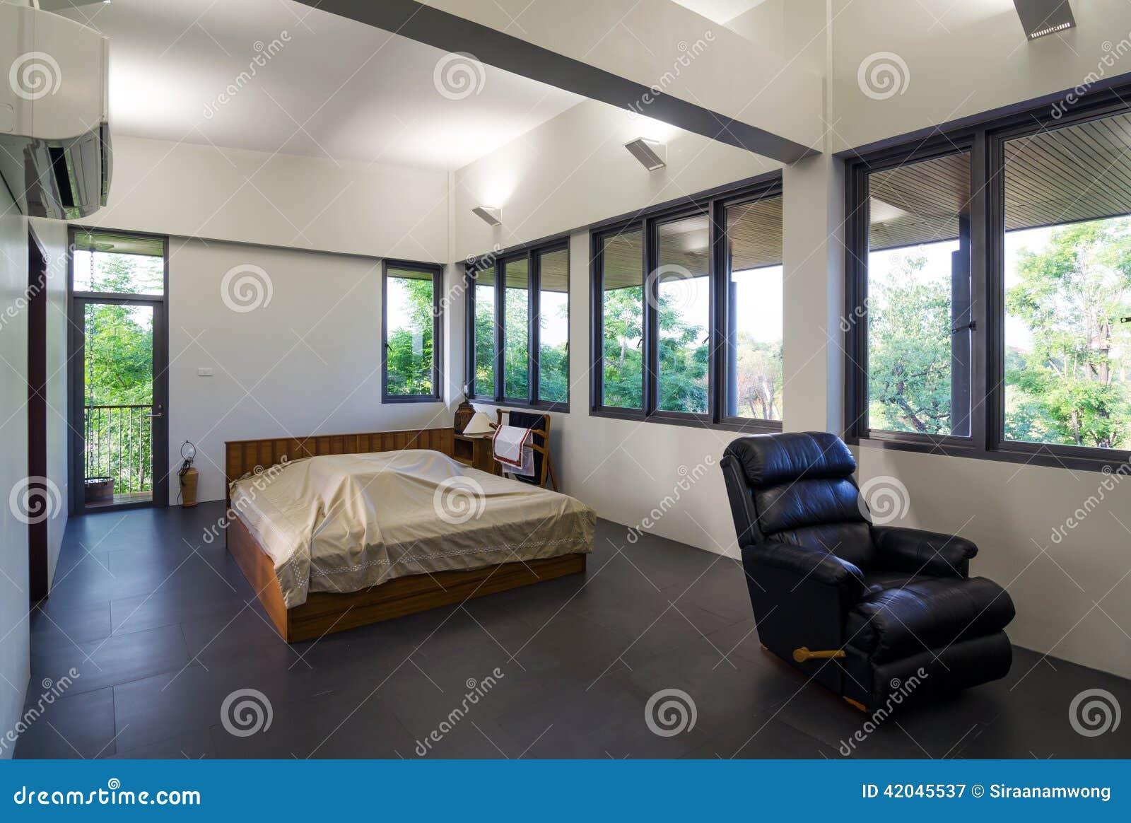 Download Modern bedroom interior stock image. Image of comfortable - 42045537