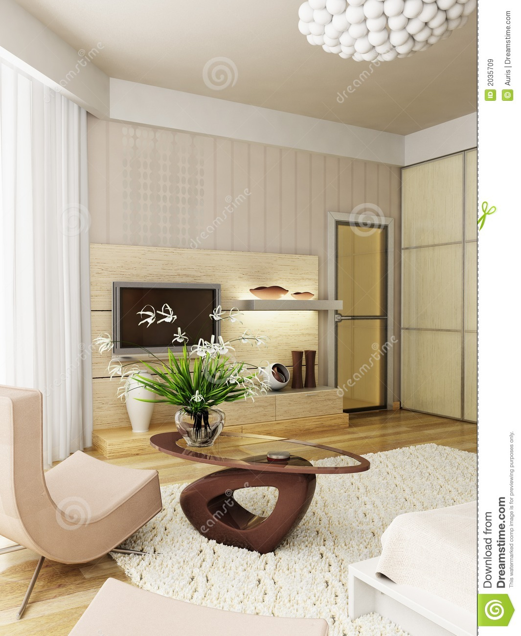Modern Bedroom Interior Modern Bedroom Interior Rendering Royalty Free Stock Images