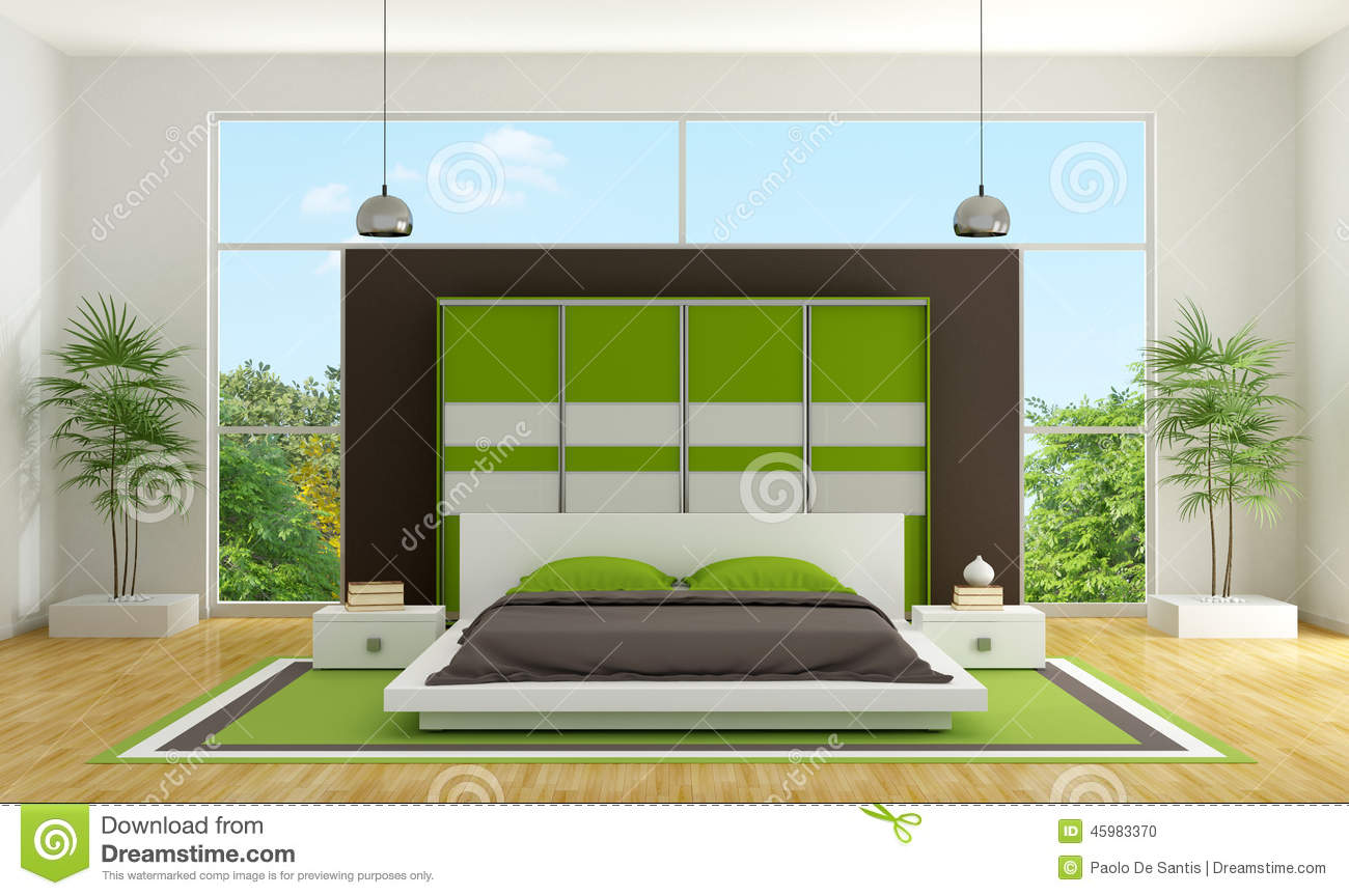Modern bedroom stock illustration image 45983370 for Modern minimalist fashion