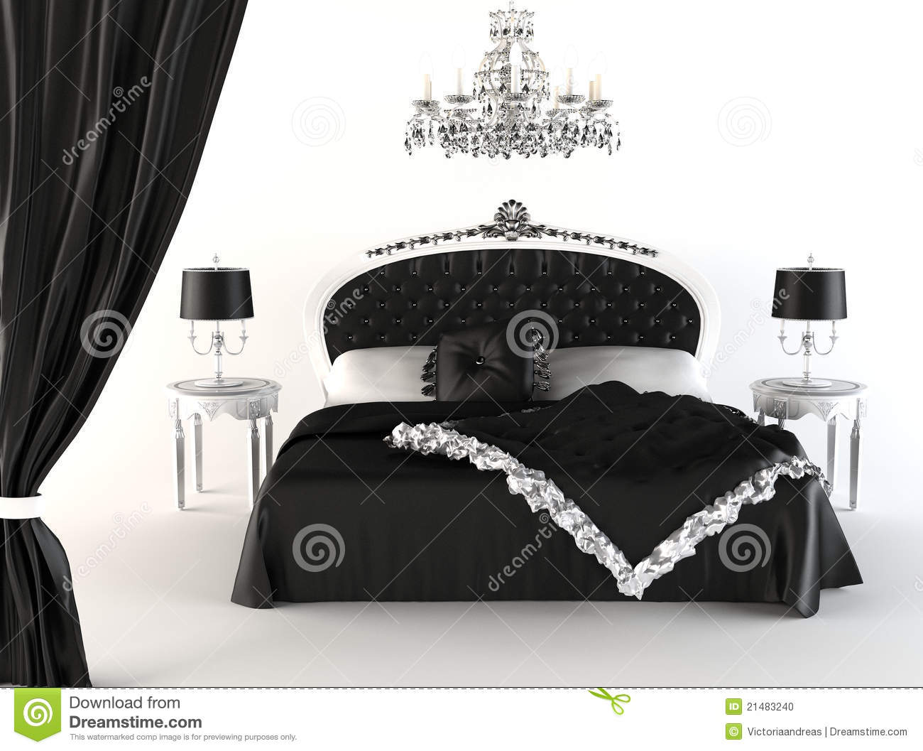 Modern Bedroom And Royal Furniture. Stock Illustration ...