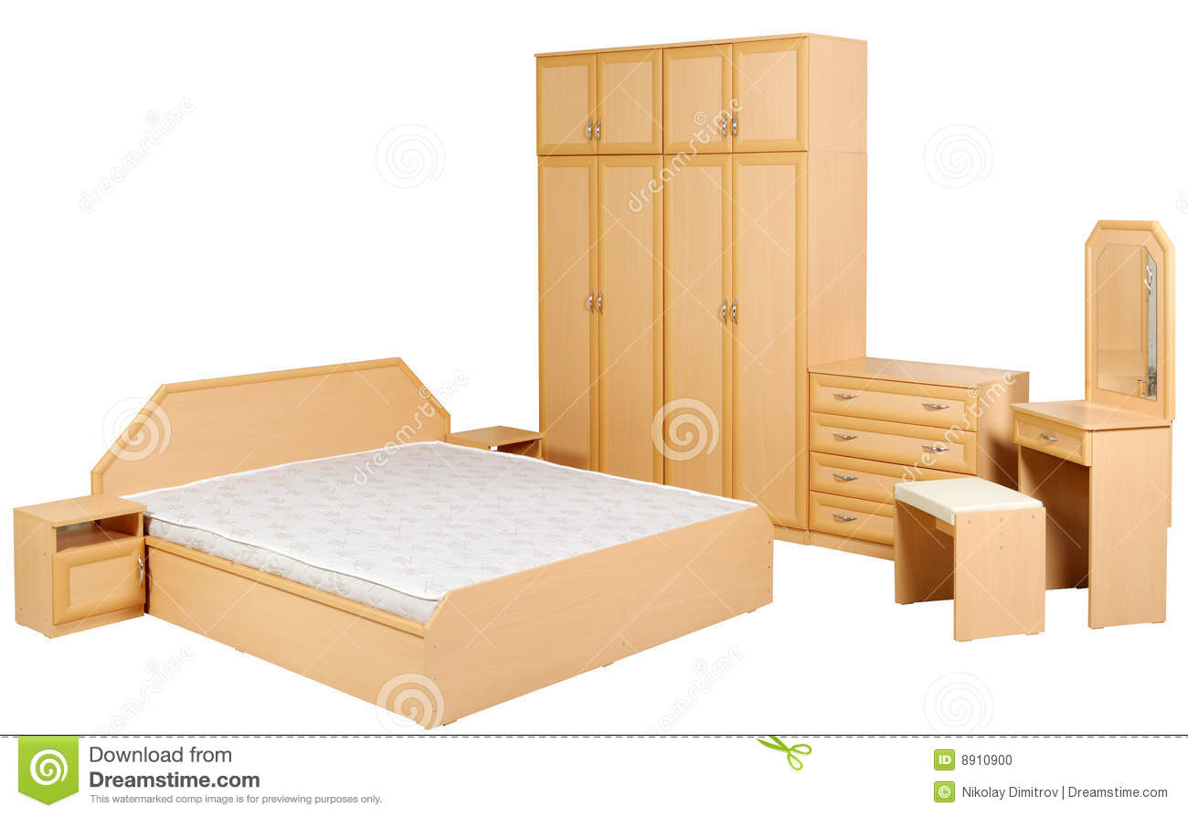 Modern Bedroom Suite Isolated Stock Photo Image 8910900