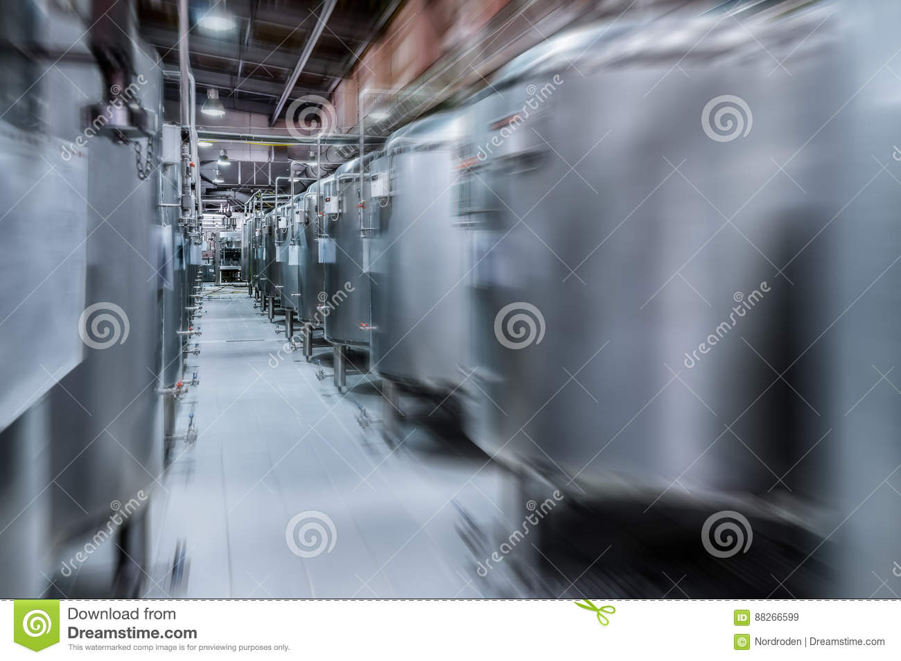 Download Modern Beer Factory. Small Steel Tanks For Fermentation Of Beer.  Stock Image