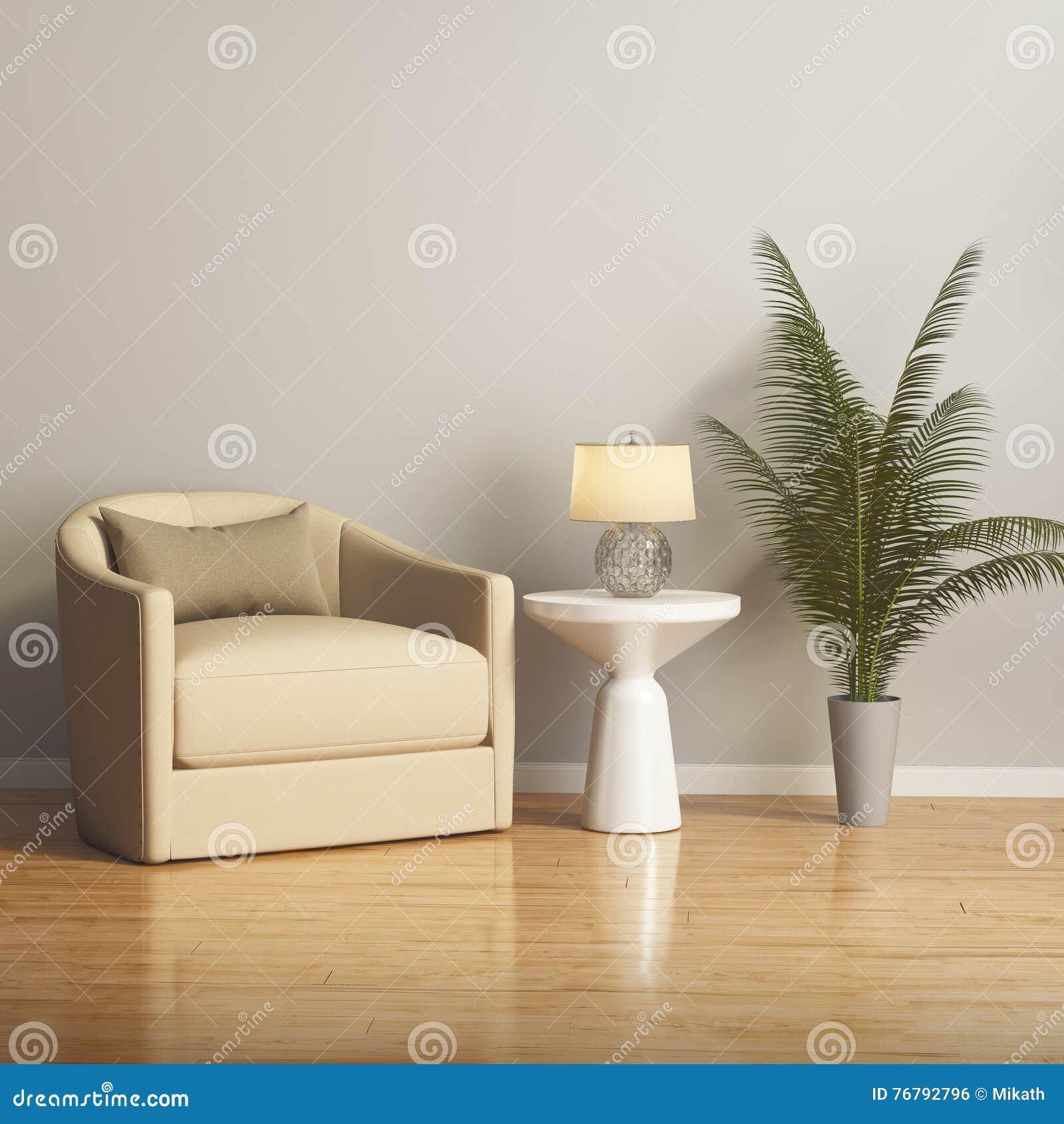 Vardagsrum med en gul soffa vid fönstret arkivfoto   bild: 55555603