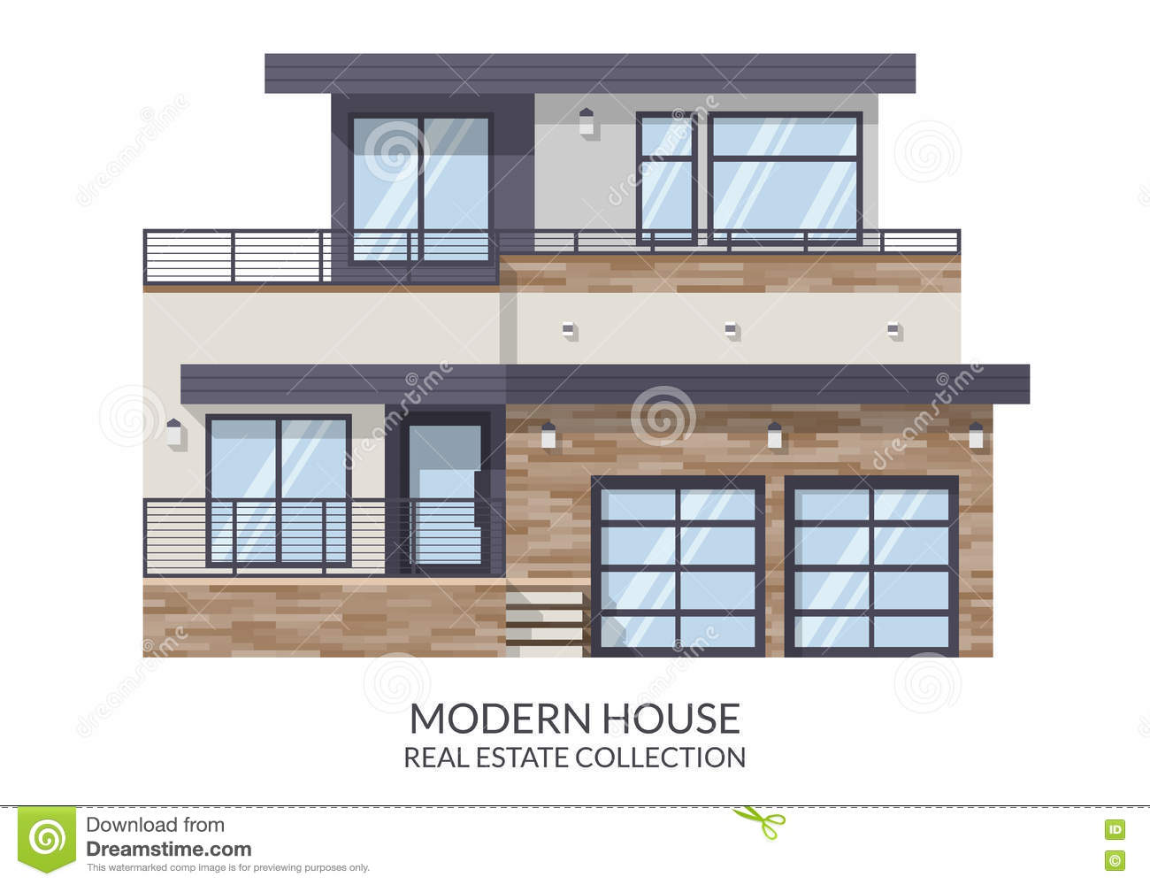 Big Modern Wooden House Royalty Free Stock Photography