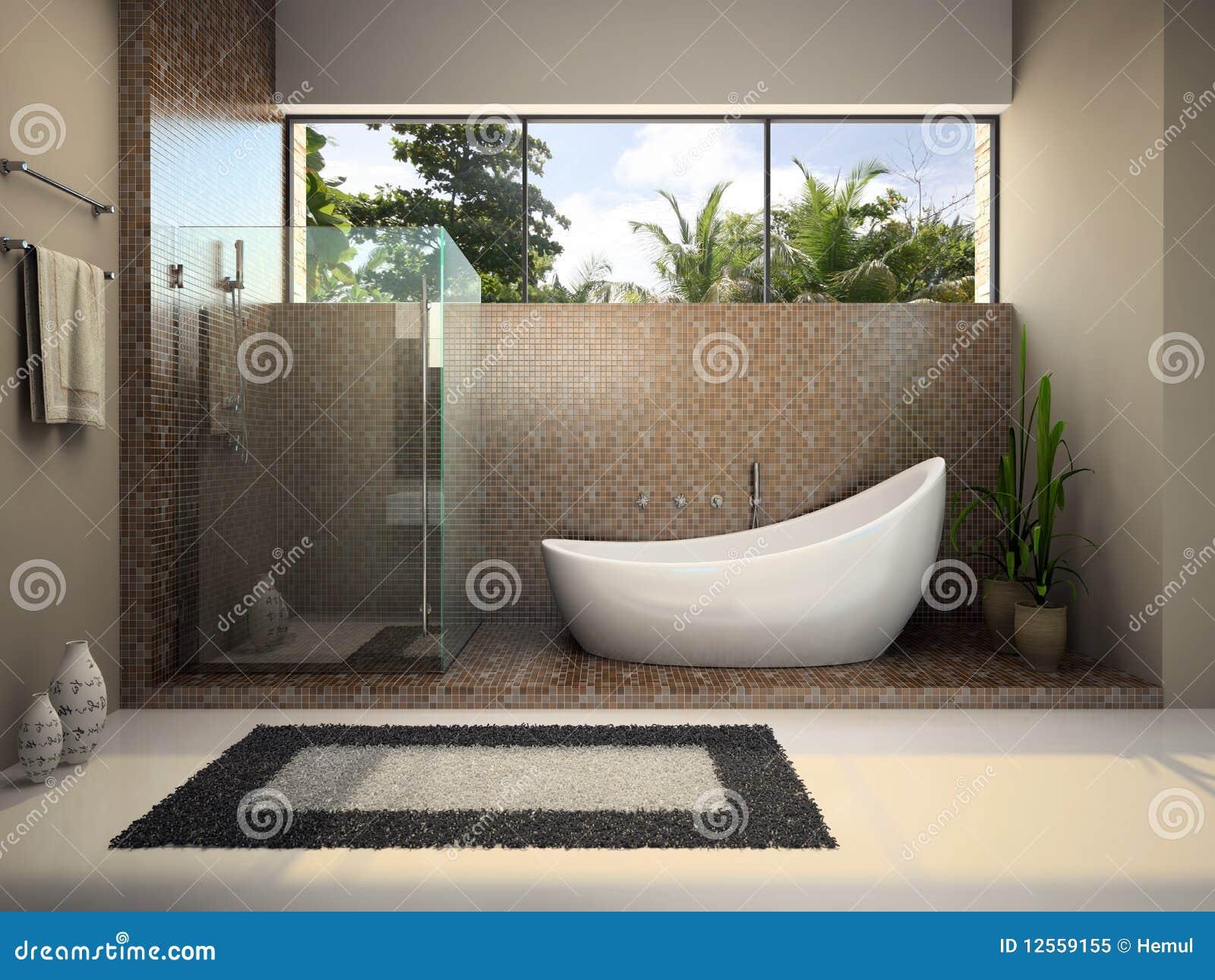 Modern binnenland van de badkamers royalty vrije stock foto afbeelding 12559155 - Badkamers ...