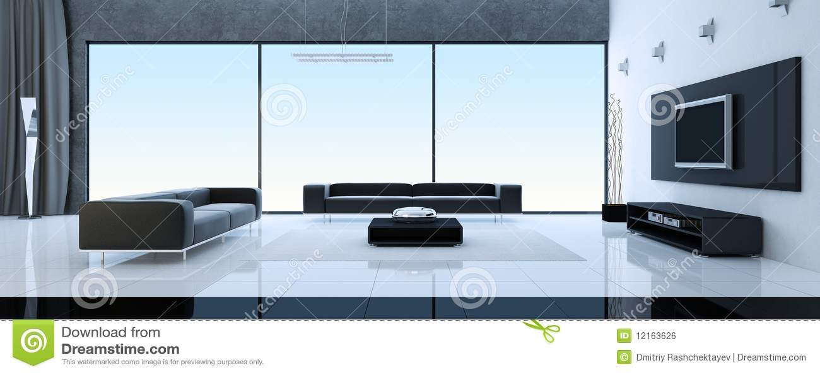 Modern binnenland van een woonkamer royalty vrije stock afbeelding afbeelding 12163626 - Fotos van moderne woonkamer ...