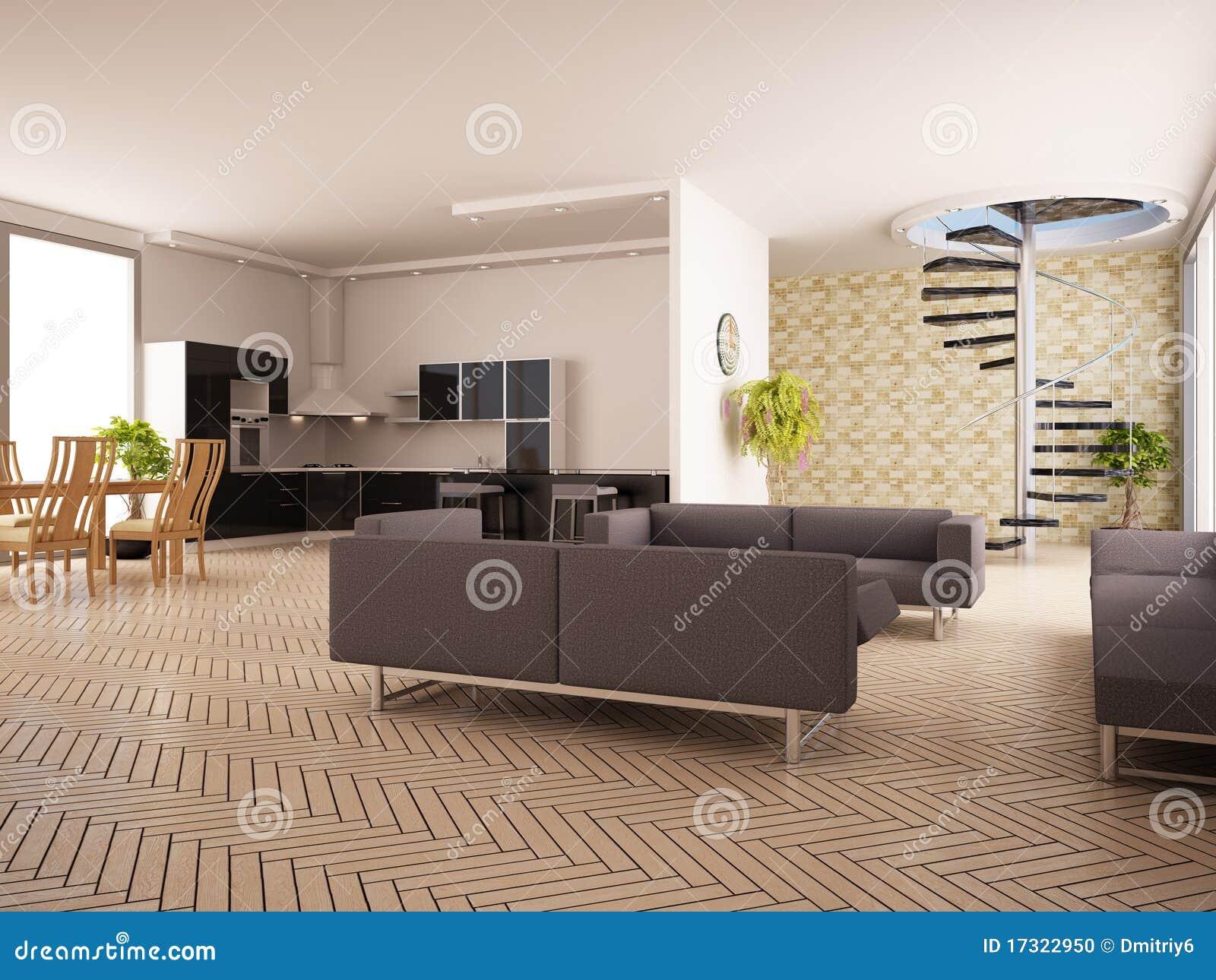 Modern binnenland van een woonkamer stock foto beeld 17322950 for Modern woonkamerbeeld