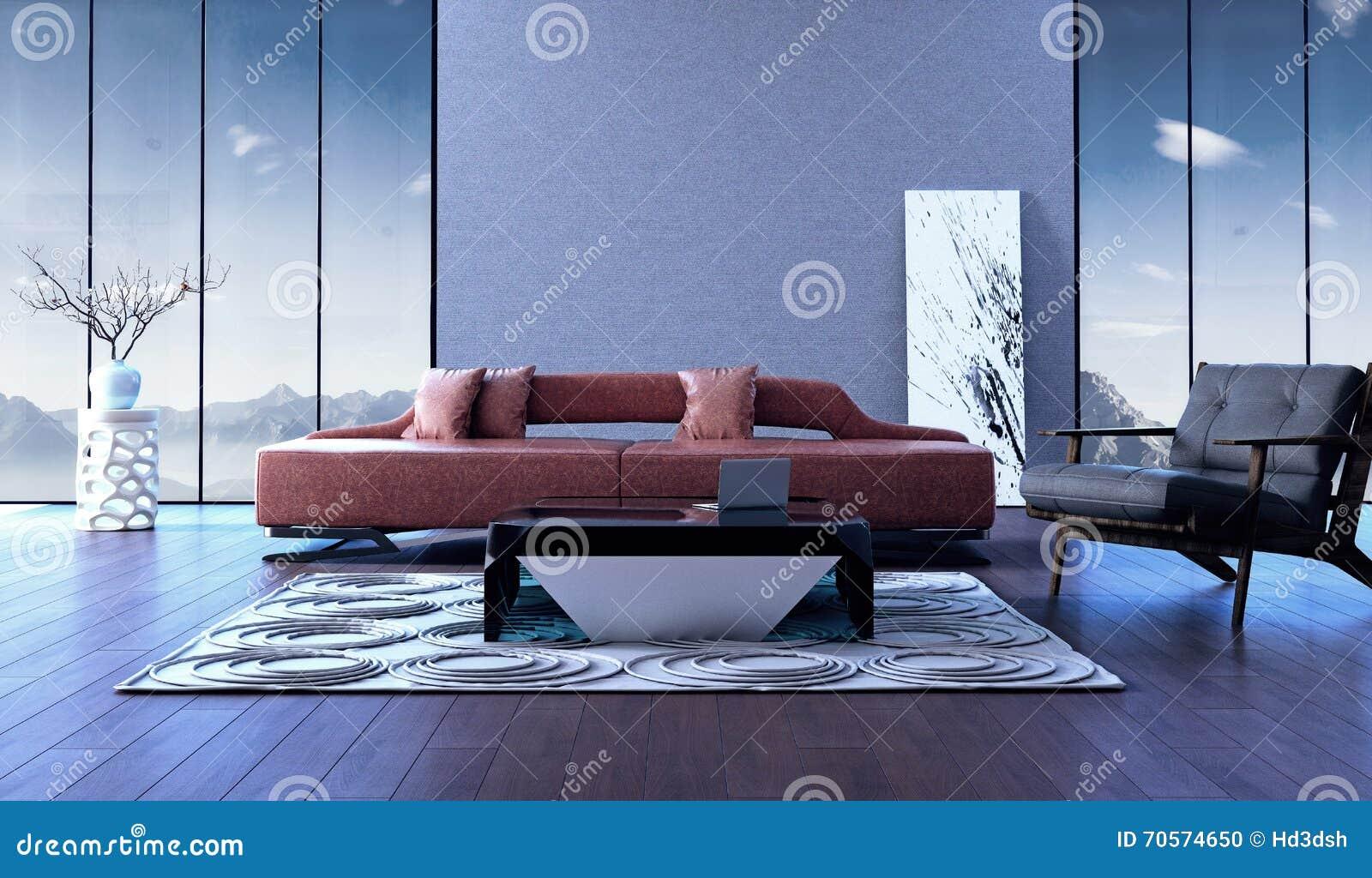 Modern Binnenlands ontwerp