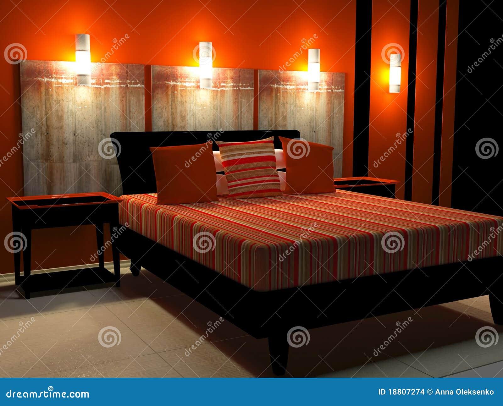 Donker slaapkamer binnenlands ontwerp stock foto   afbeelding ...