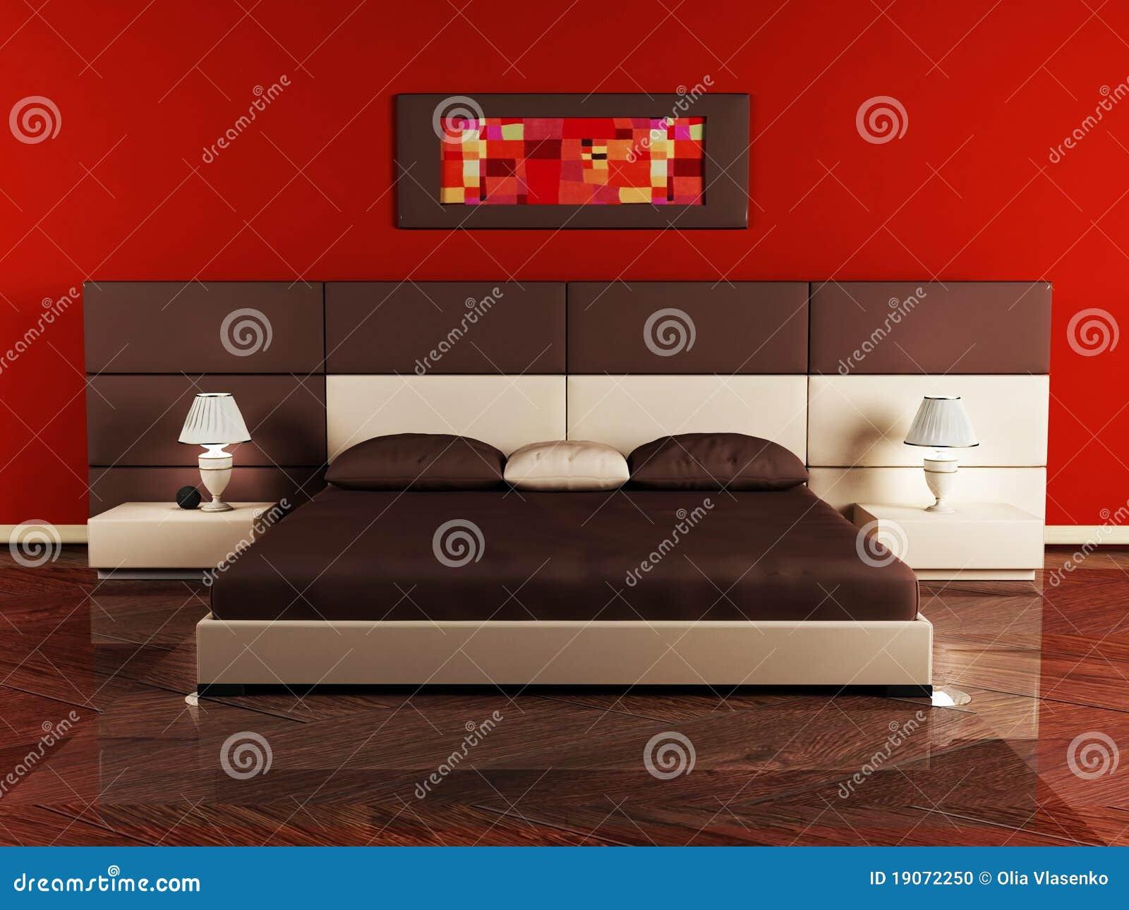 Modern binnenlands ontwerp van slaapkamer stock afbeeldingen ...