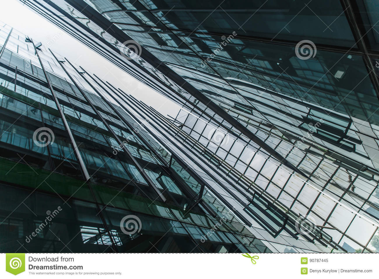 Modern Black And Dark Blue Glass Skyscrapers Background