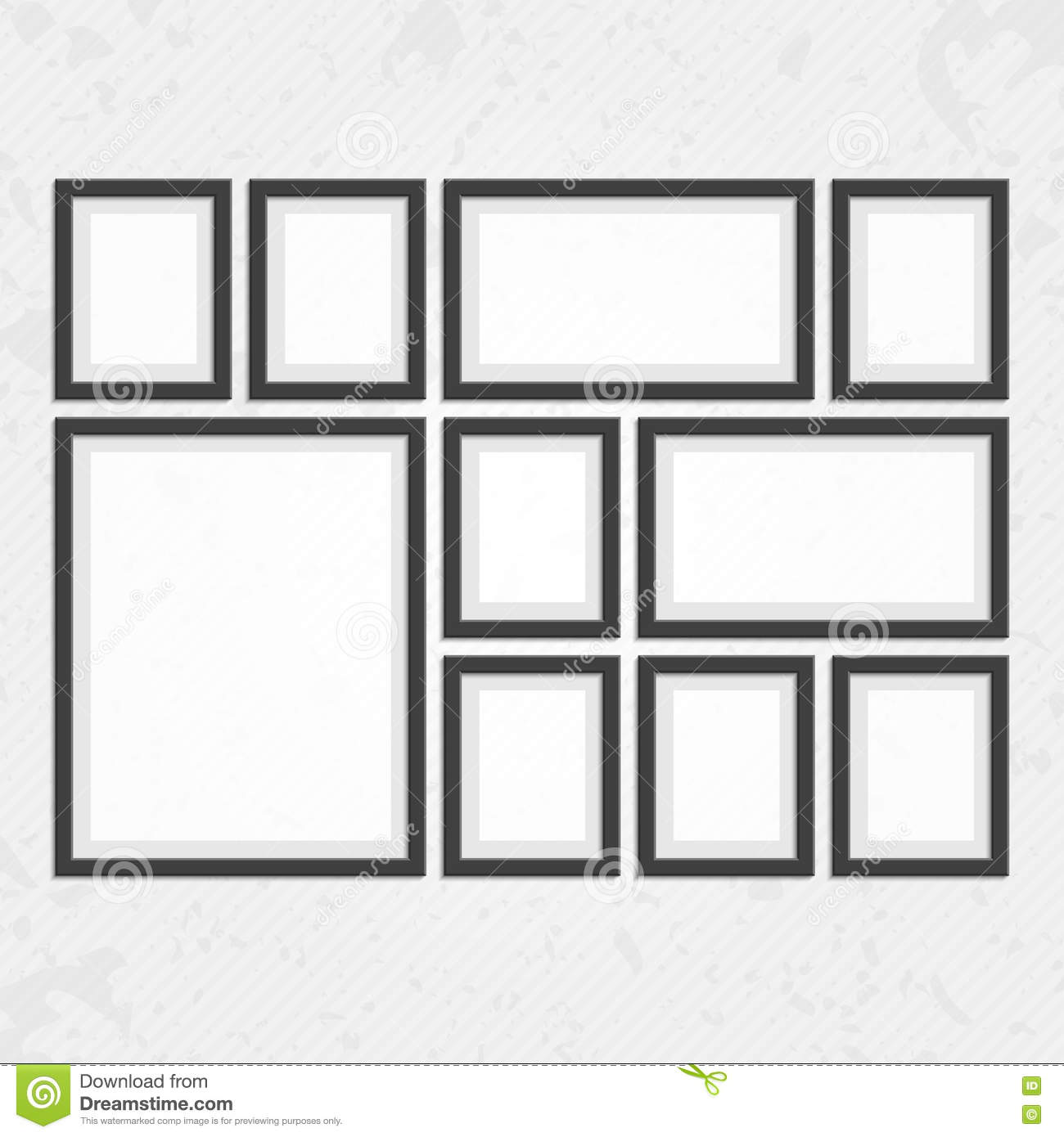 Modern black frames set stock vector. Illustration of gallery - 75676797
