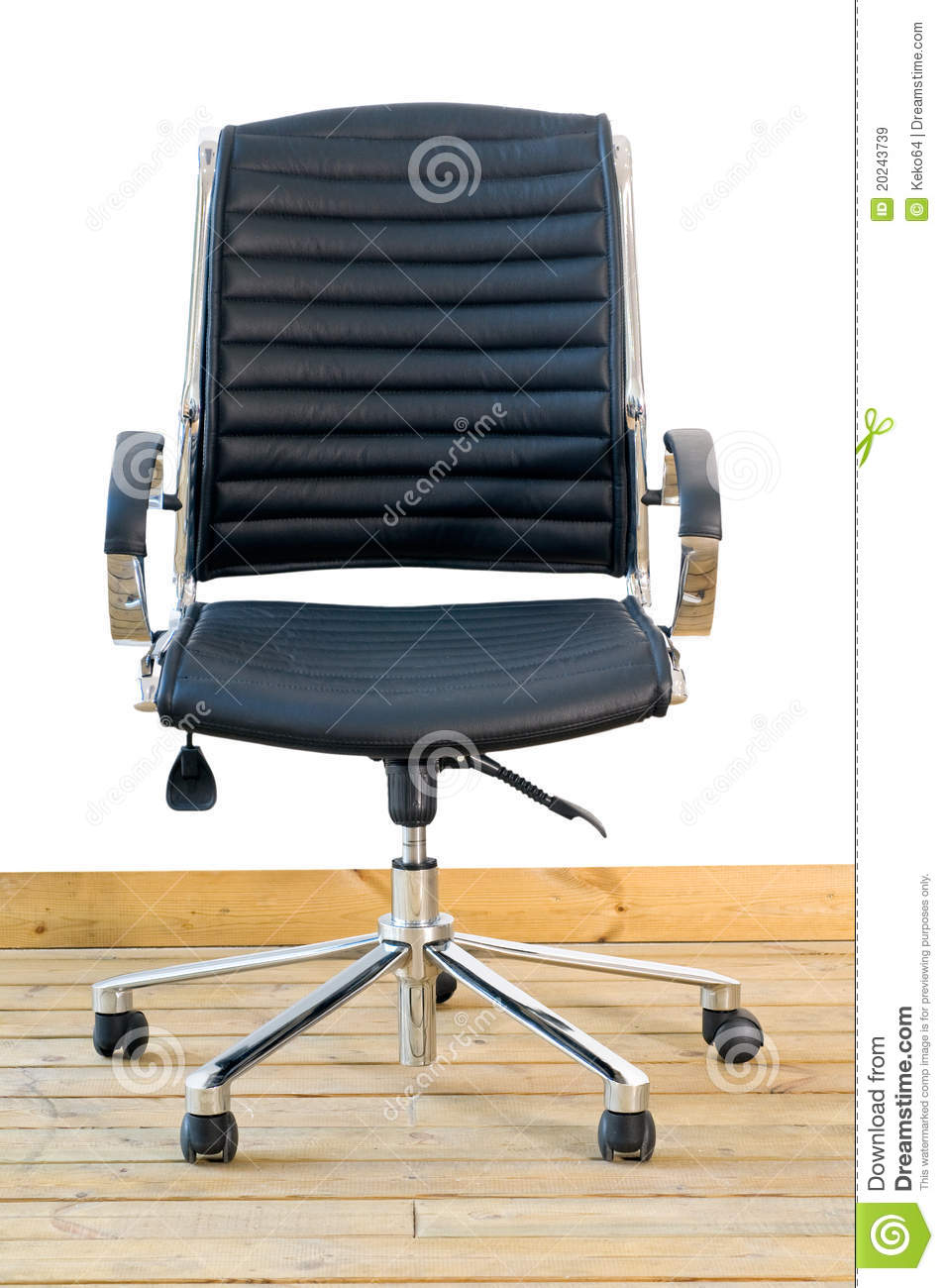 modern black leather office chair royalty free stock images image