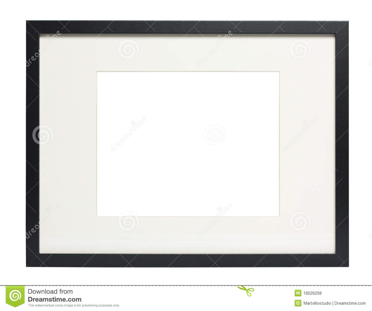 Modern Black Photo Frame With Clipping Path Stock Photo