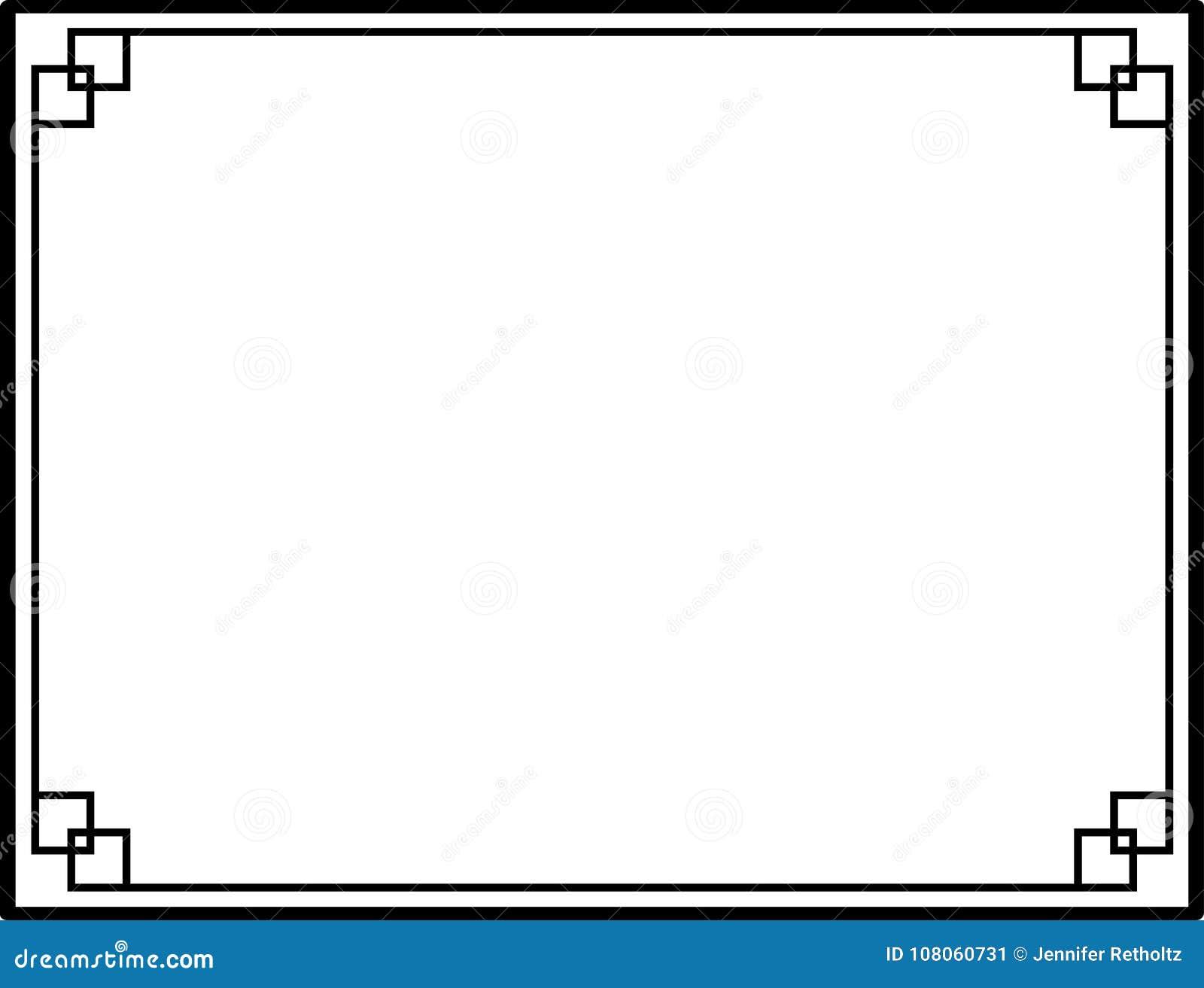 modern black and white clean border or frame stock vectormodern black and white clean border or frame