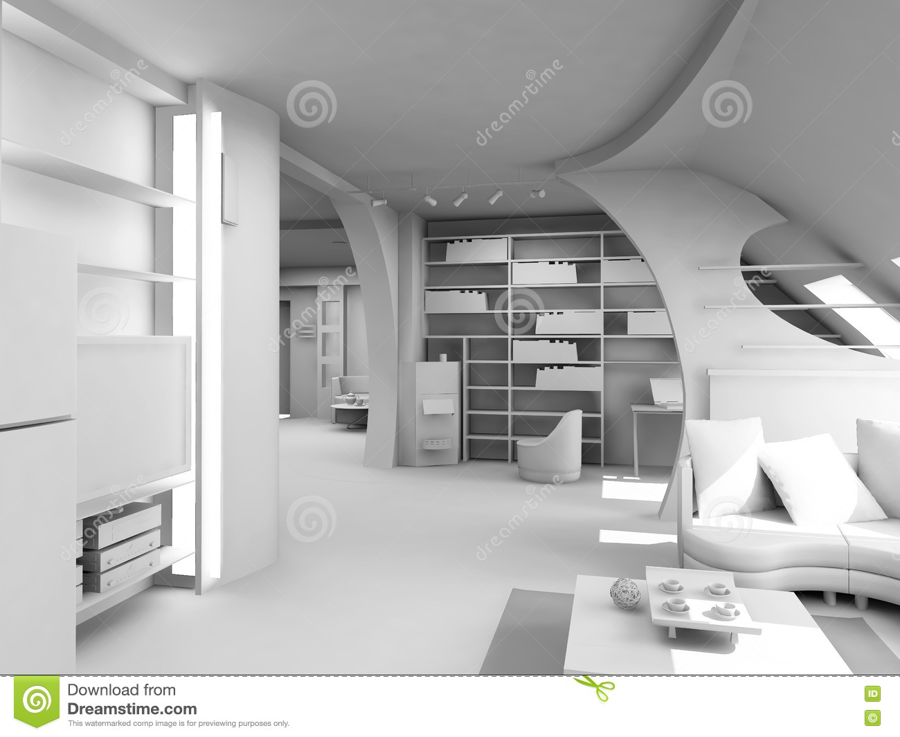 Modern Blank Interior Royalty Free Stock Images   Image: 1508389