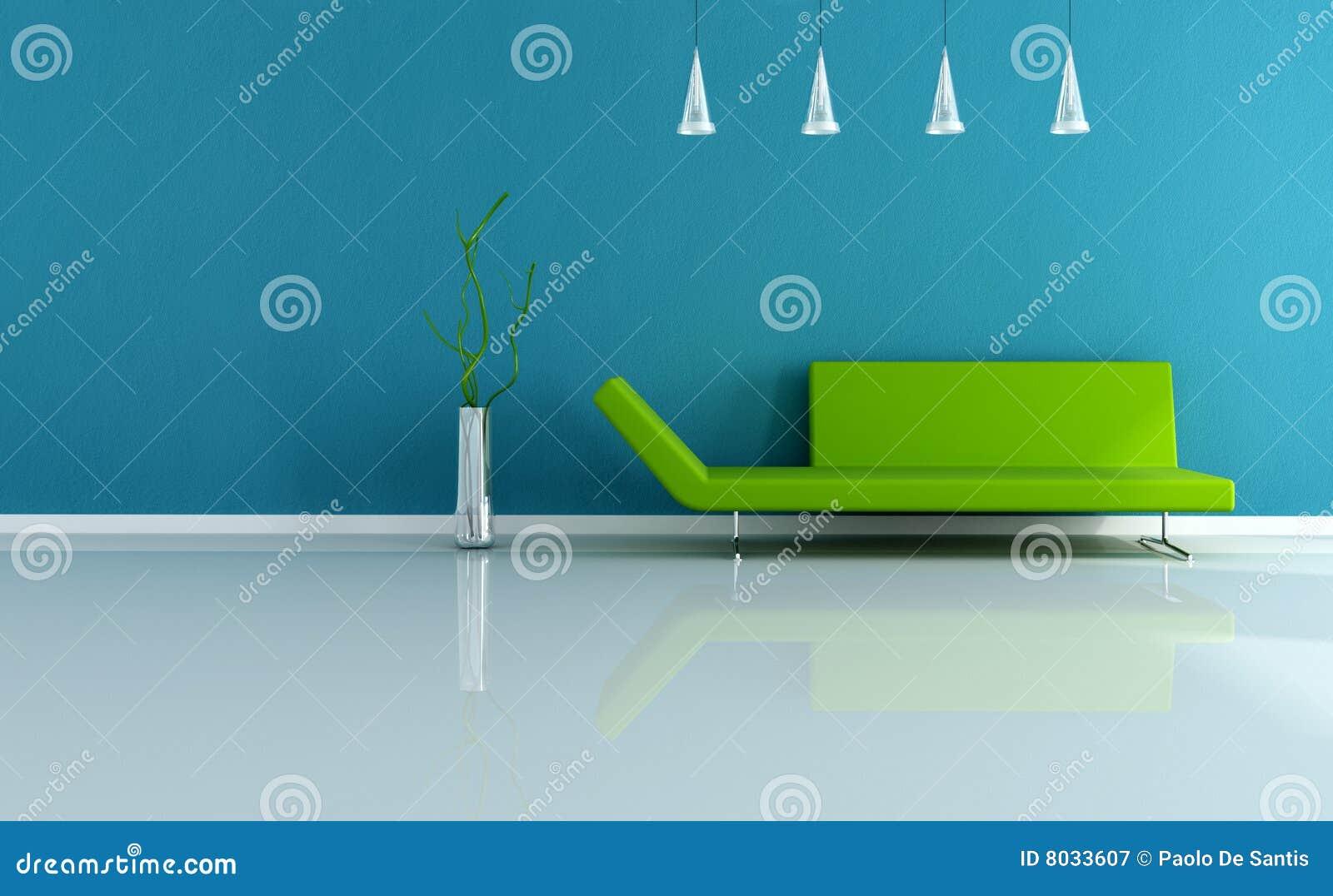 Moderne en klassieke groene woonkamer stock fotografie ...