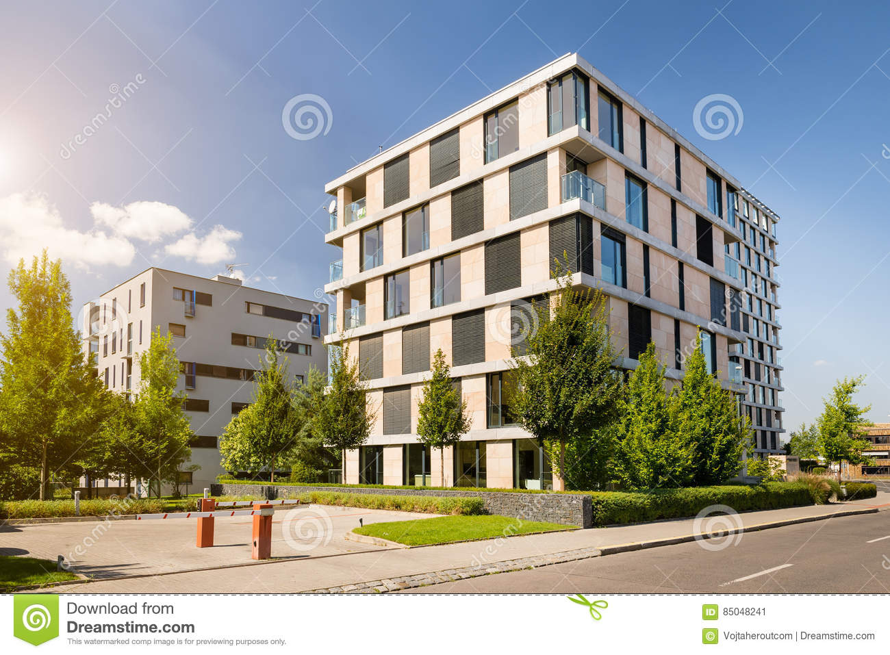 A modern block of flats royalty free stock image for Palazzine moderne