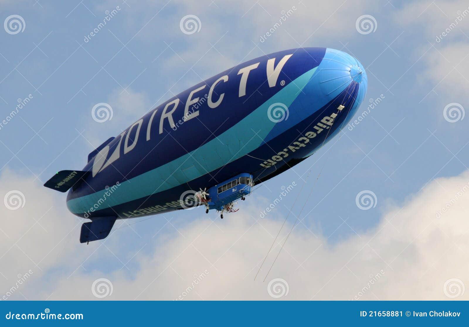 Modern blue airship