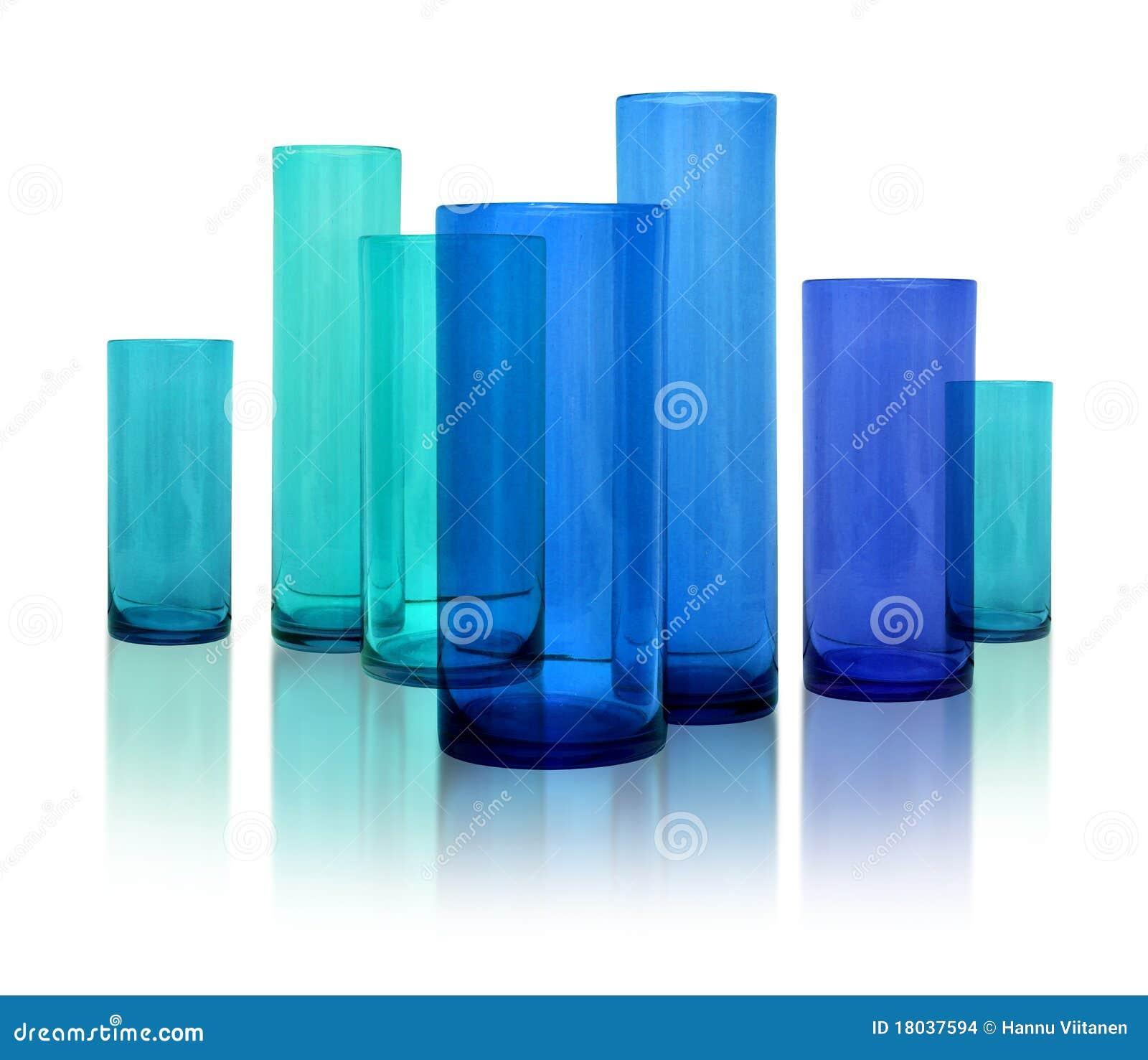 Modern blue glass vases stock photo image of height 18037594 modern blue glass vases reviewsmspy