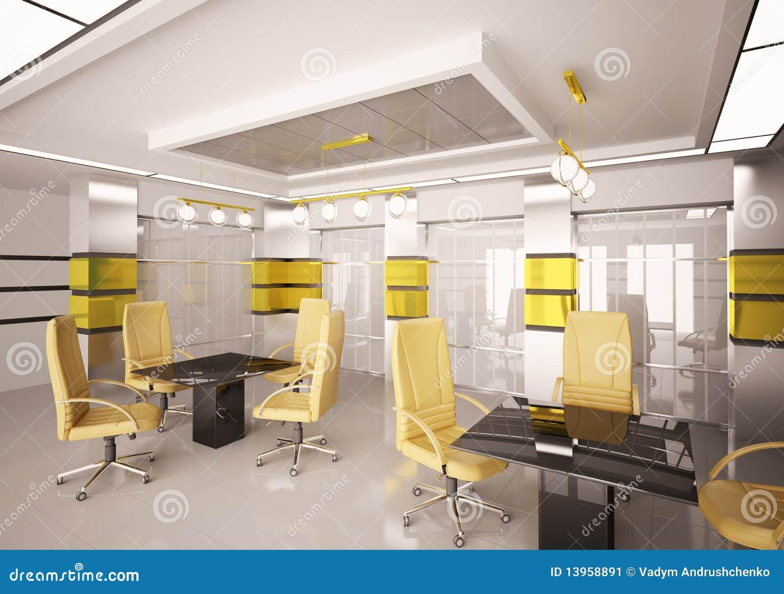 Modern Boardroom Interior 3d Stock Image Image 13958891