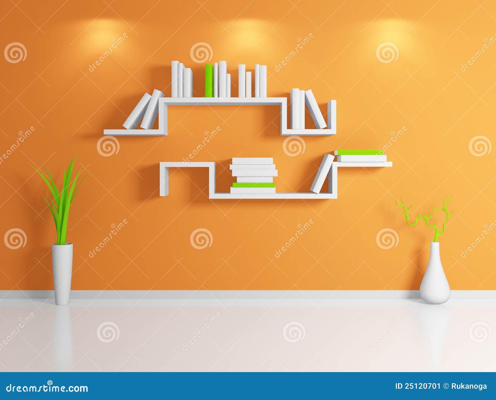 Het moderne boekenrek 3d teruggeven stock afbeelding   afbeelding ...
