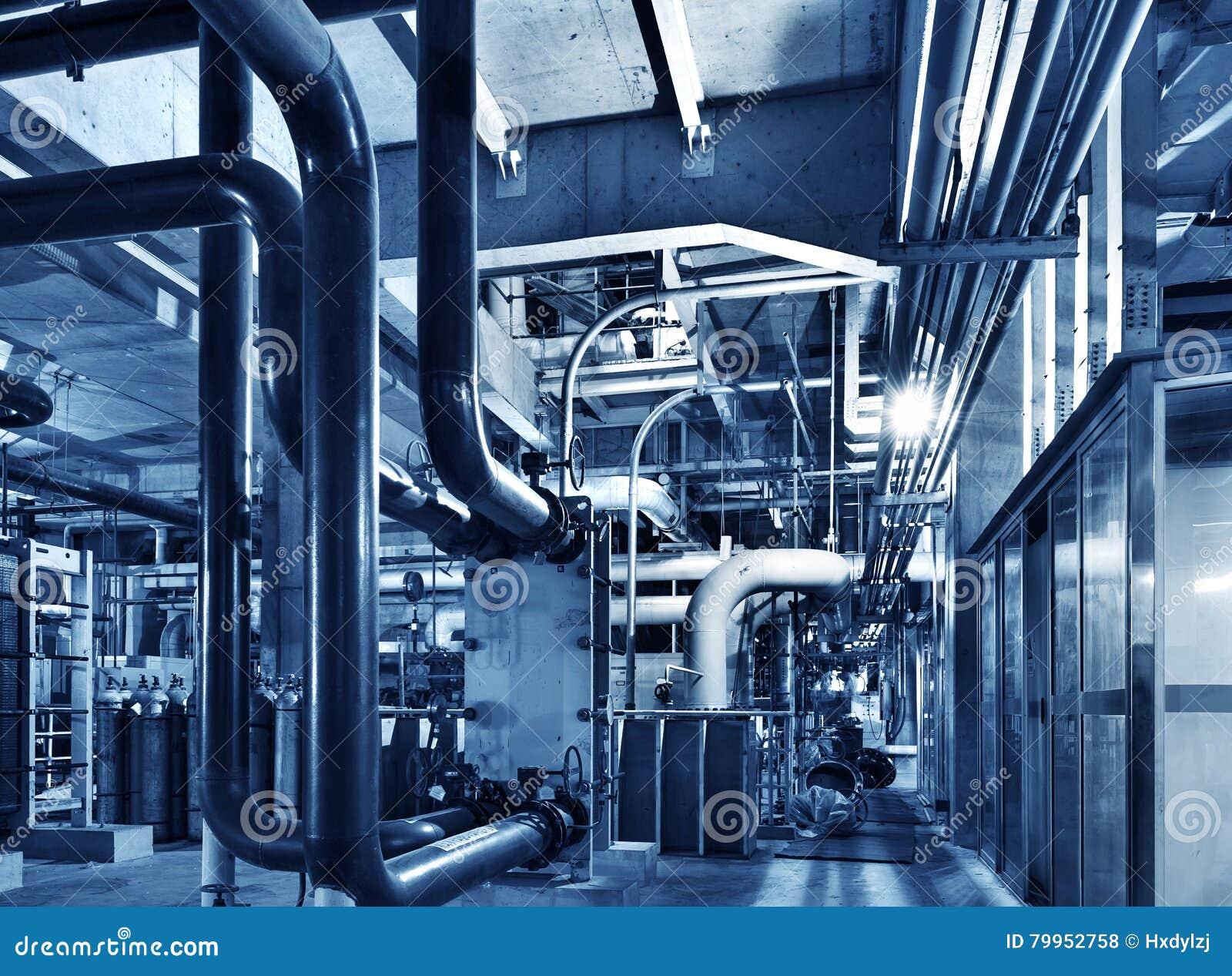 Modern Boiler Room Equipment For Heating System Stock Photo - Image ...
